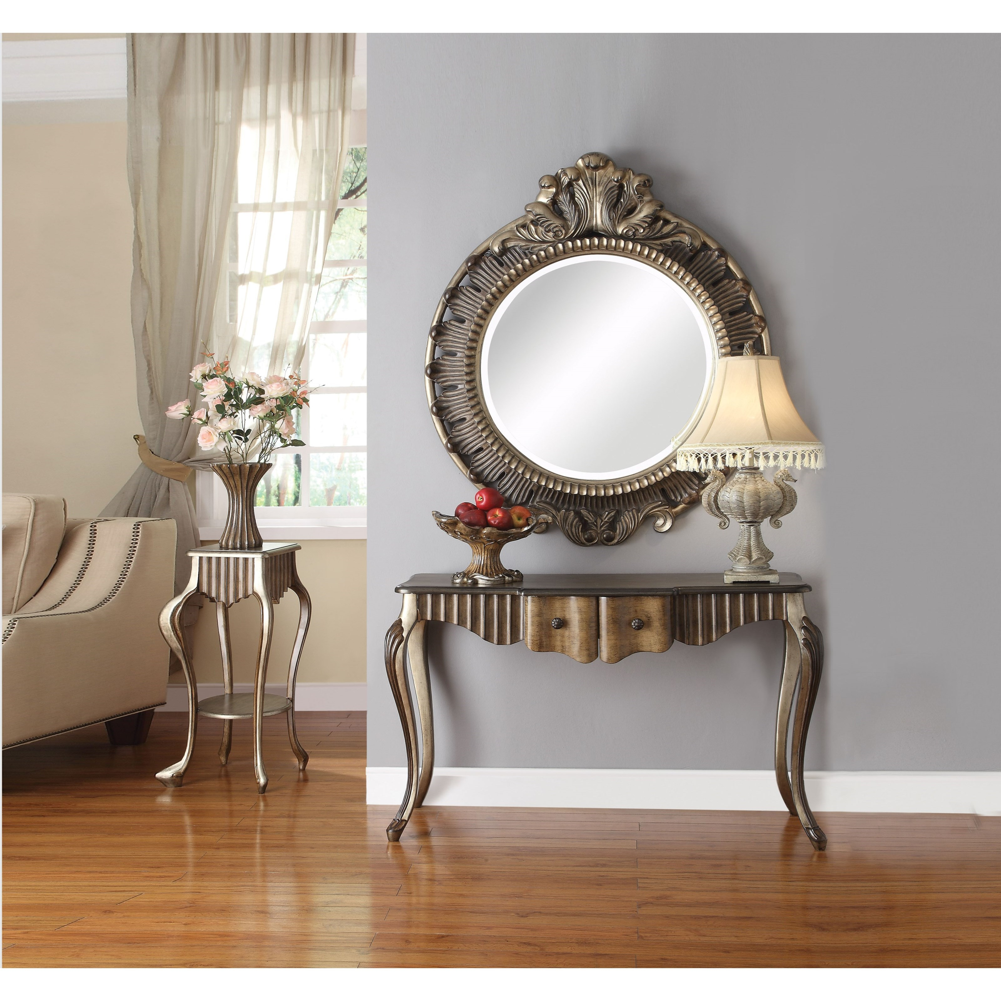 Acme Furniture Bayley Traditional Accent Mirror With Bronze Regarding Traditional Accent Mirrors (View 16 of 30)