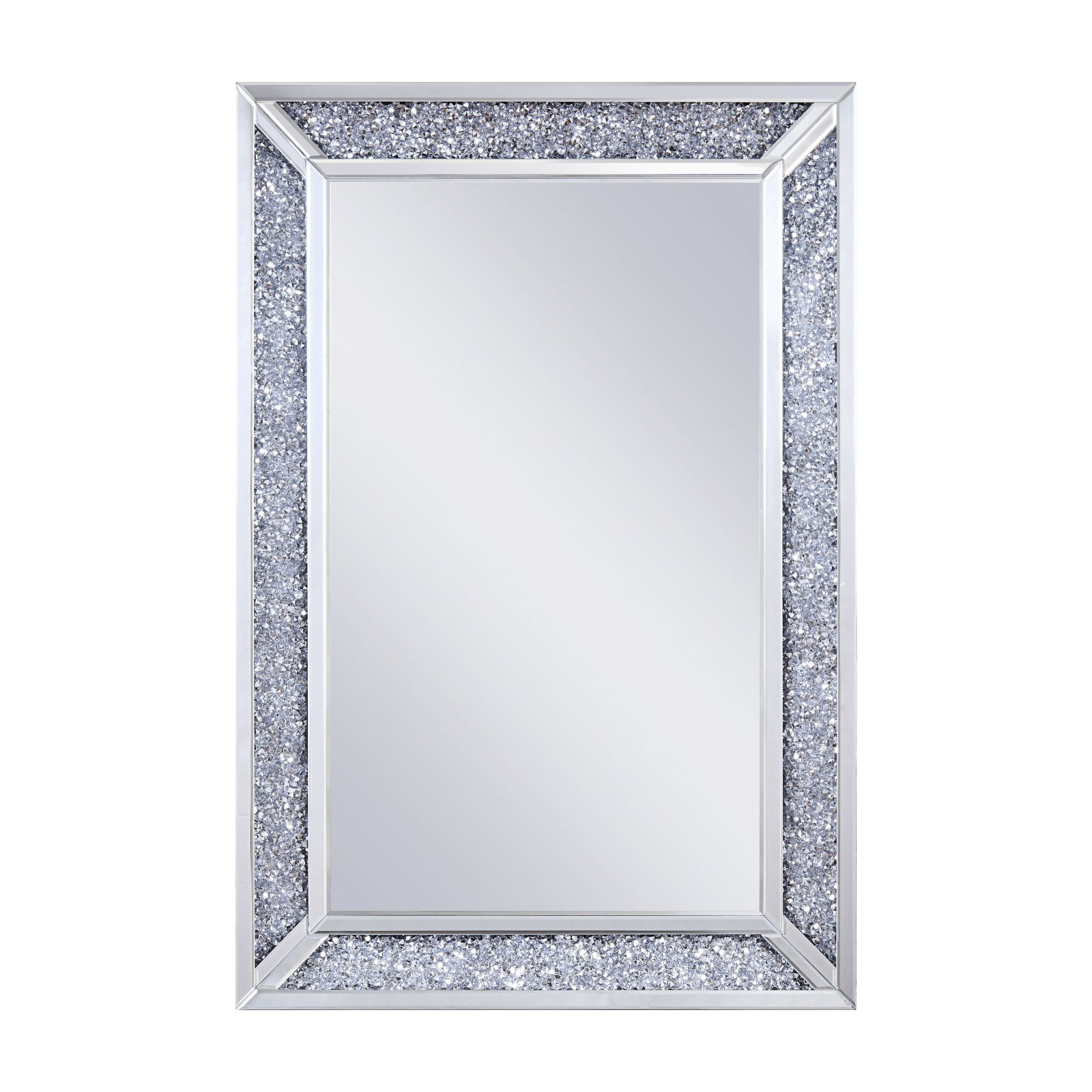 Acme Furniture Noralie Rectangular Wall Mirror - 31W X 47H for Longwood Rustic Beveled Accent Mirrors (Image 1 of 30)