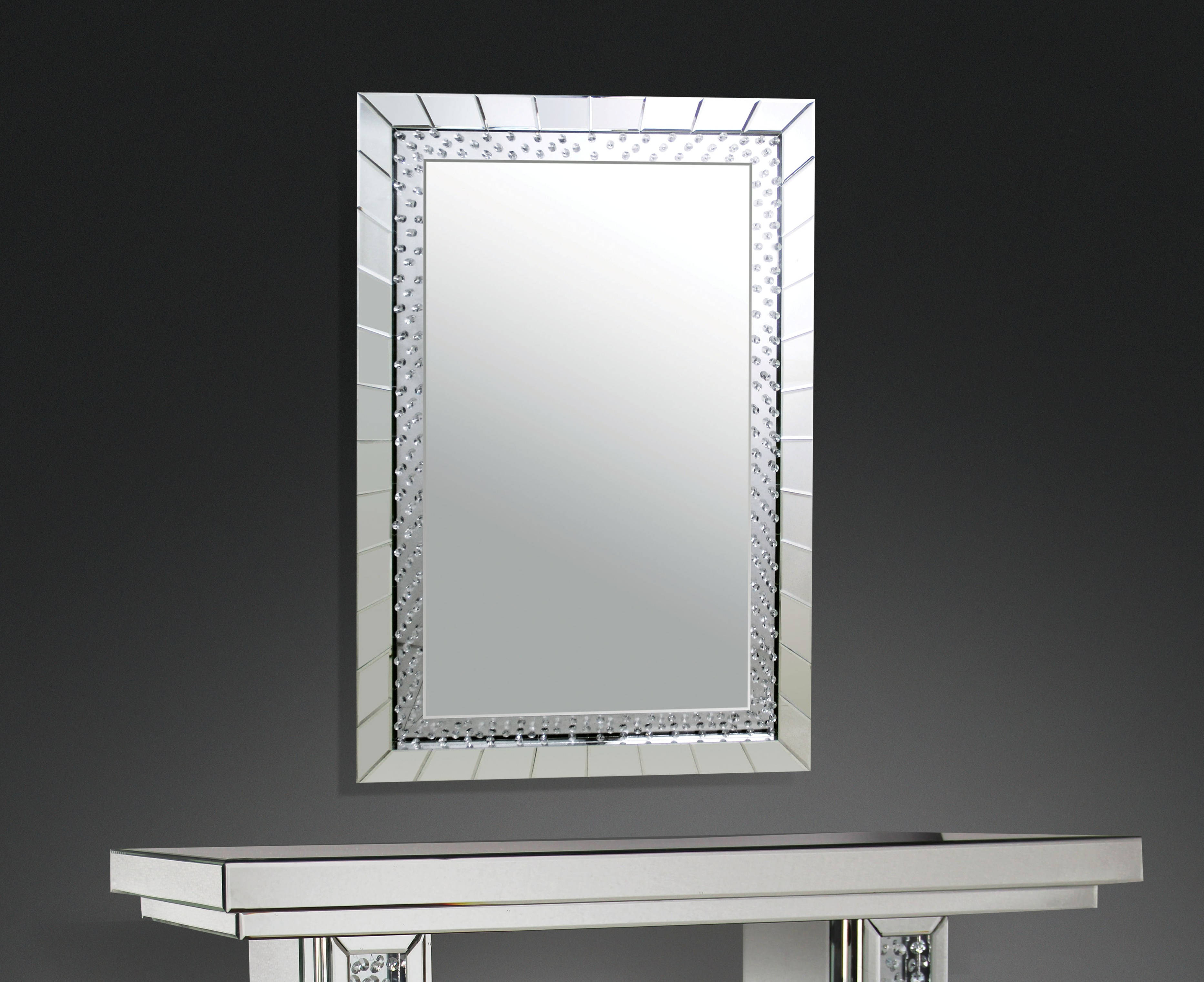 Acme Furniture Nysa Rectangle Accent Wall Mirror With Rectangle Accent Wall Mirrors (View 23 of 30)