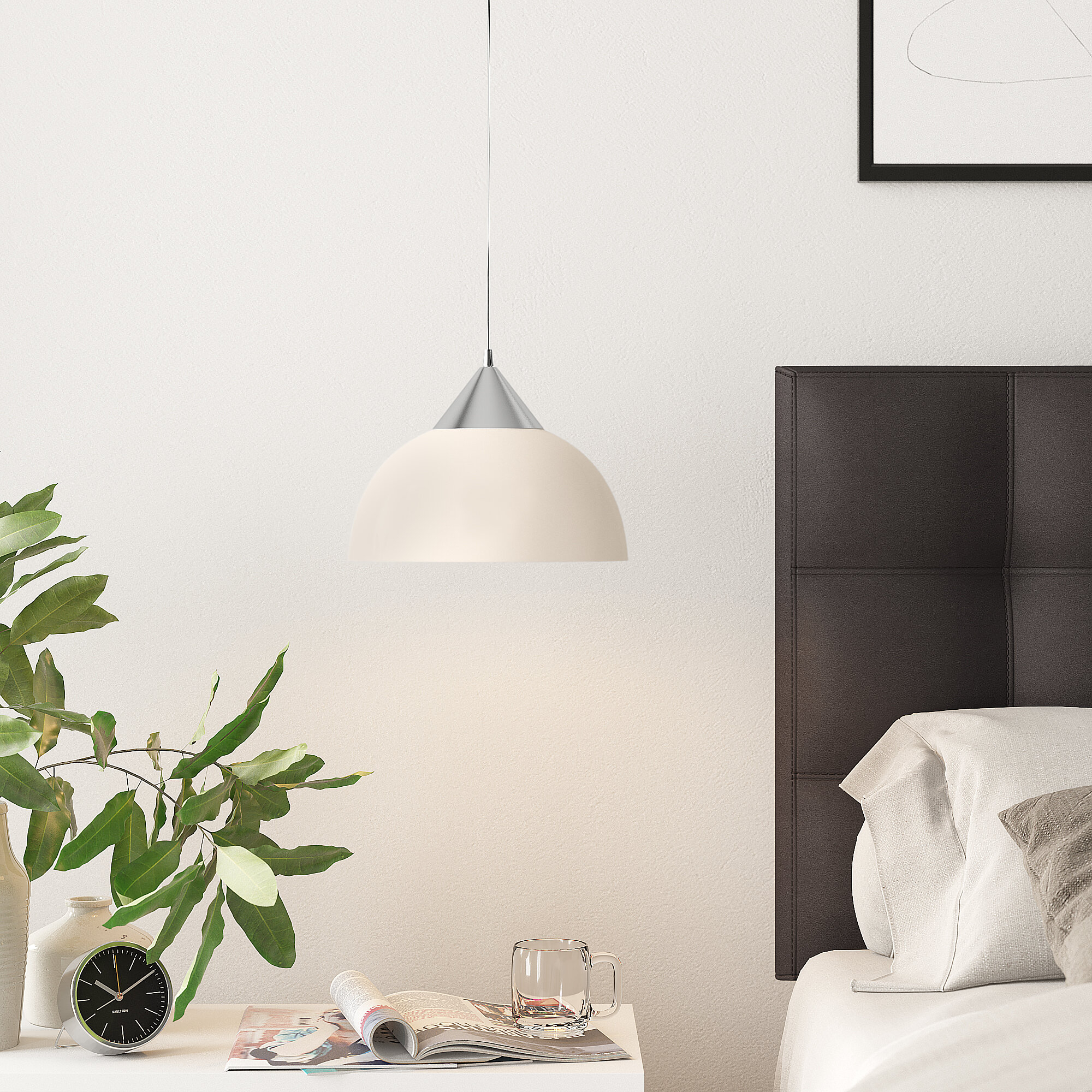 Acosta 1 Light Dome Pendant Within Bryker 1 Light Single Bulb Pendants (View 24 of 30)