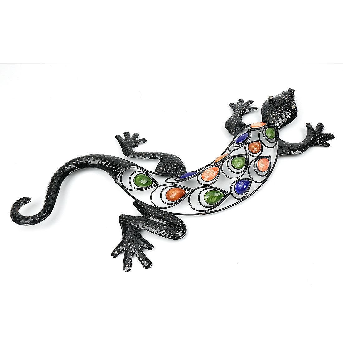 Acrylic Metal Gecko Wall Garden Decor Gecko Sticker Within Gecko Wall Decor (View 24 of 30)