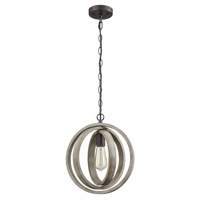 Adame Modern Rustic 1 Light Globe Pendant Throughout Irwin 1 Light Single Globe Pendants (View 2 of 30)