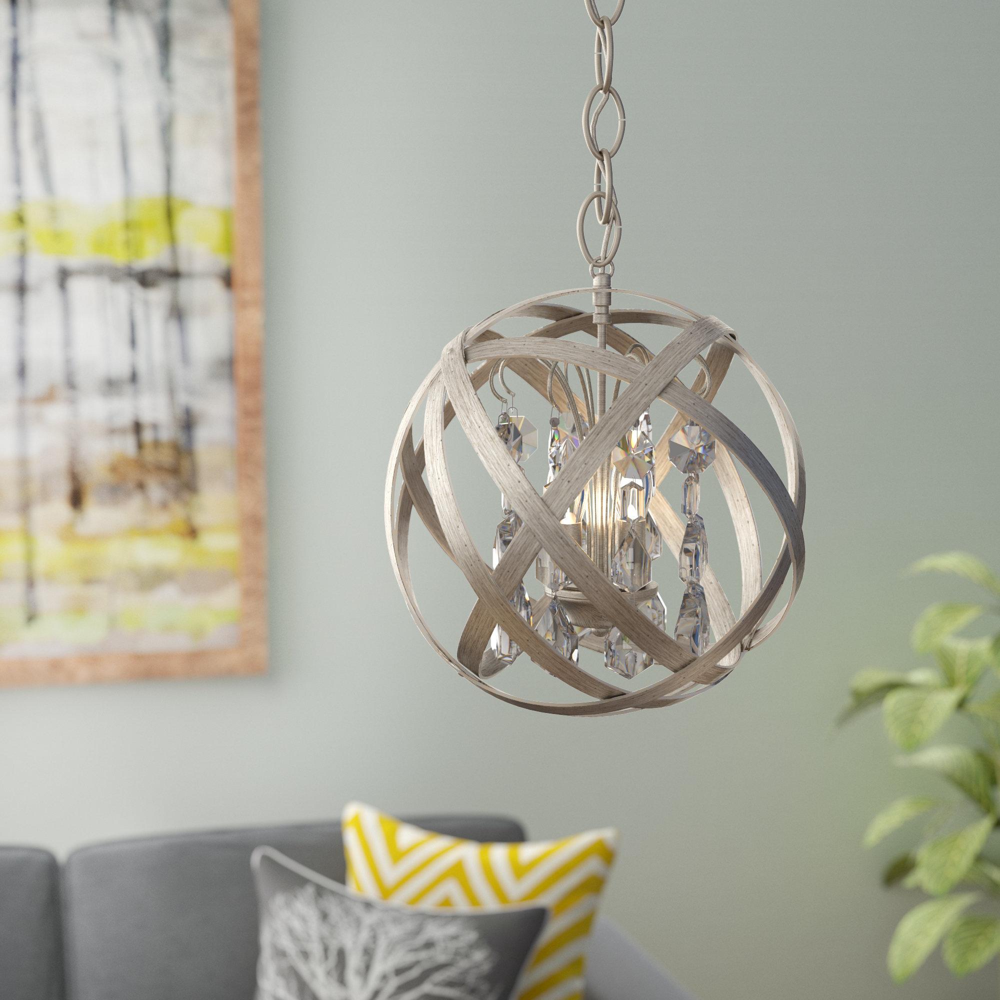 Adcock 3 Light Chandelier With Regard To Adcock 3 Light Single Globe Pendants (View 3 of 30)