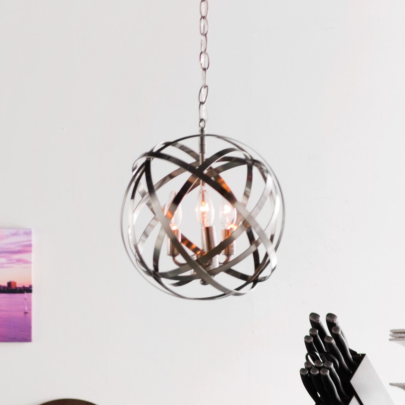 Adcock 3 Light Single Globe Pendant For Dirksen 3 Light Single Cylinder Chandeliers (View 9 of 30)