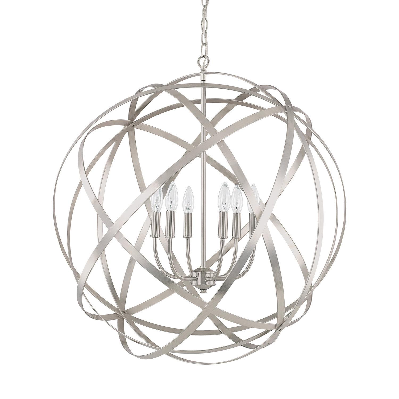 Adcock 6 Light Globe Pendant Regarding Adcock 3 Light Single Globe Pendants (View 4 of 30)