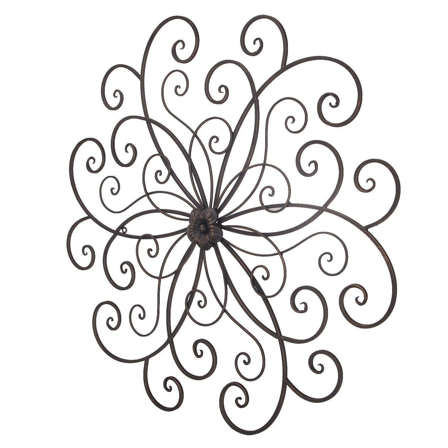 Adeco Bronze Flower Urban Design Metal Wall Decor For Nature Home Art with regard to Flower Urban Design Metal Wall Decor (Image 2 of 30)