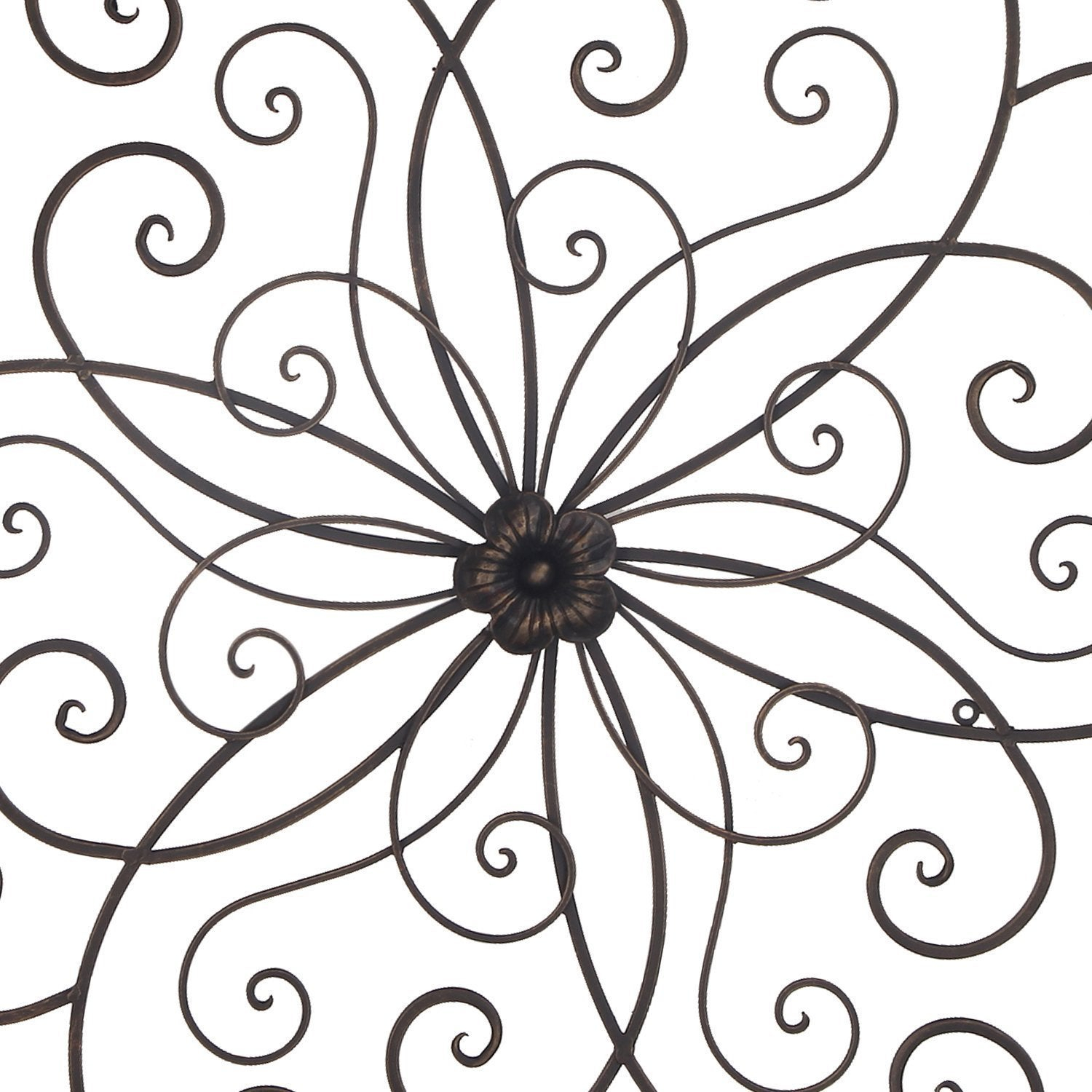 Adeco Bronze Flower Urban Design Metal Wall Decor For Nature Home Art within Flower Urban Design Metal Wall Decor (Image 3 of 30)