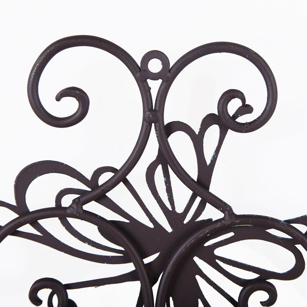 Adeco Flower And Butterfly Urban Design Metal Wall Decor For Regarding Flower And Butterfly Urban Design Metal Wall Decor (View 18 of 30)
