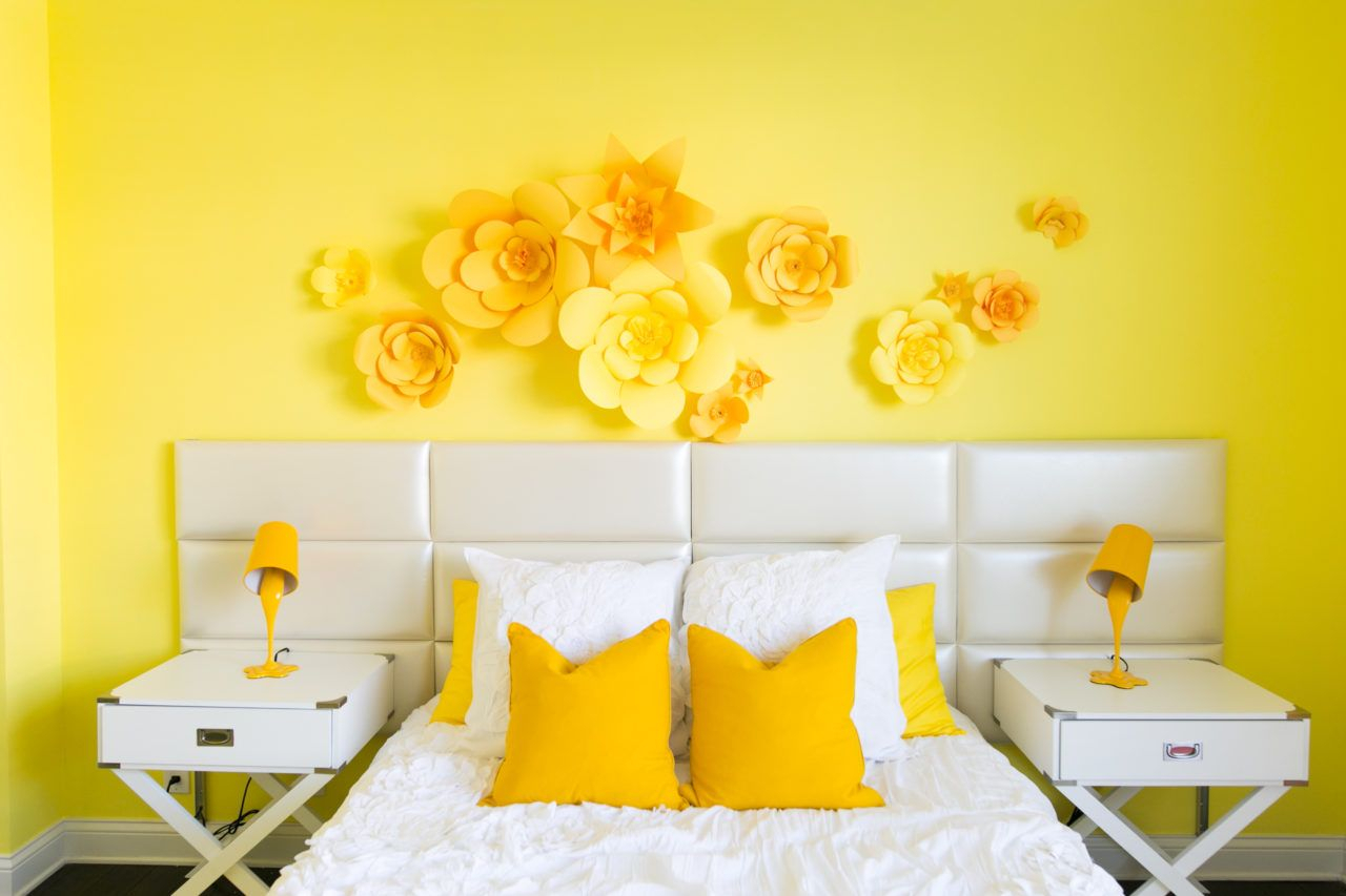Adelaine Morin's Hello Yellow Bedroom Makeover | Mr (View 19 of 30)