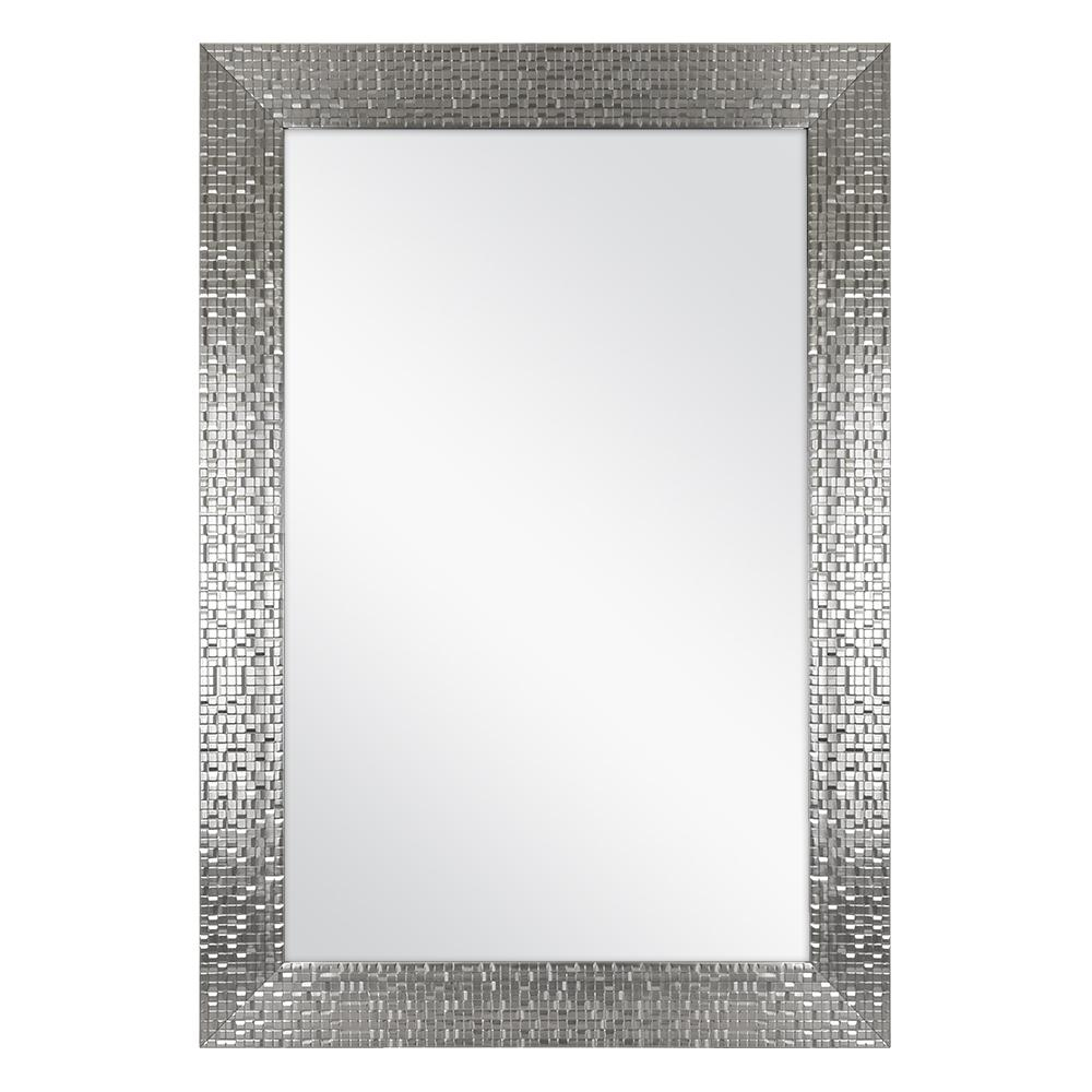 Afina Modern Luxe Round Wall Mirror Bathroom Ideas Home For Sajish Oval Crystal Wall Mirrors (View 22 of 30)