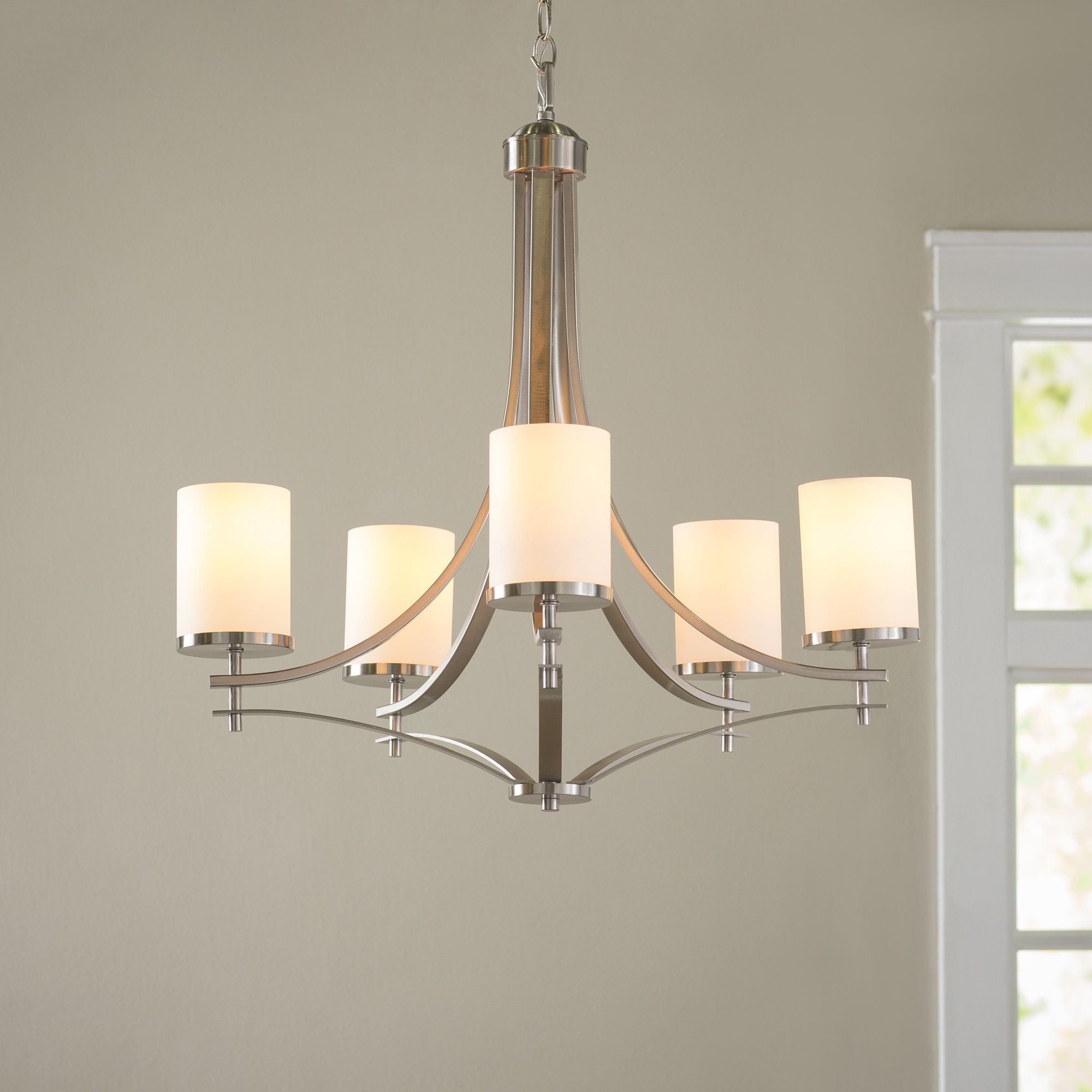 Agnes 5-Light Shaded Chandelier pertaining to Suki 5-Light Shaded Chandeliers (Image 1 of 30)