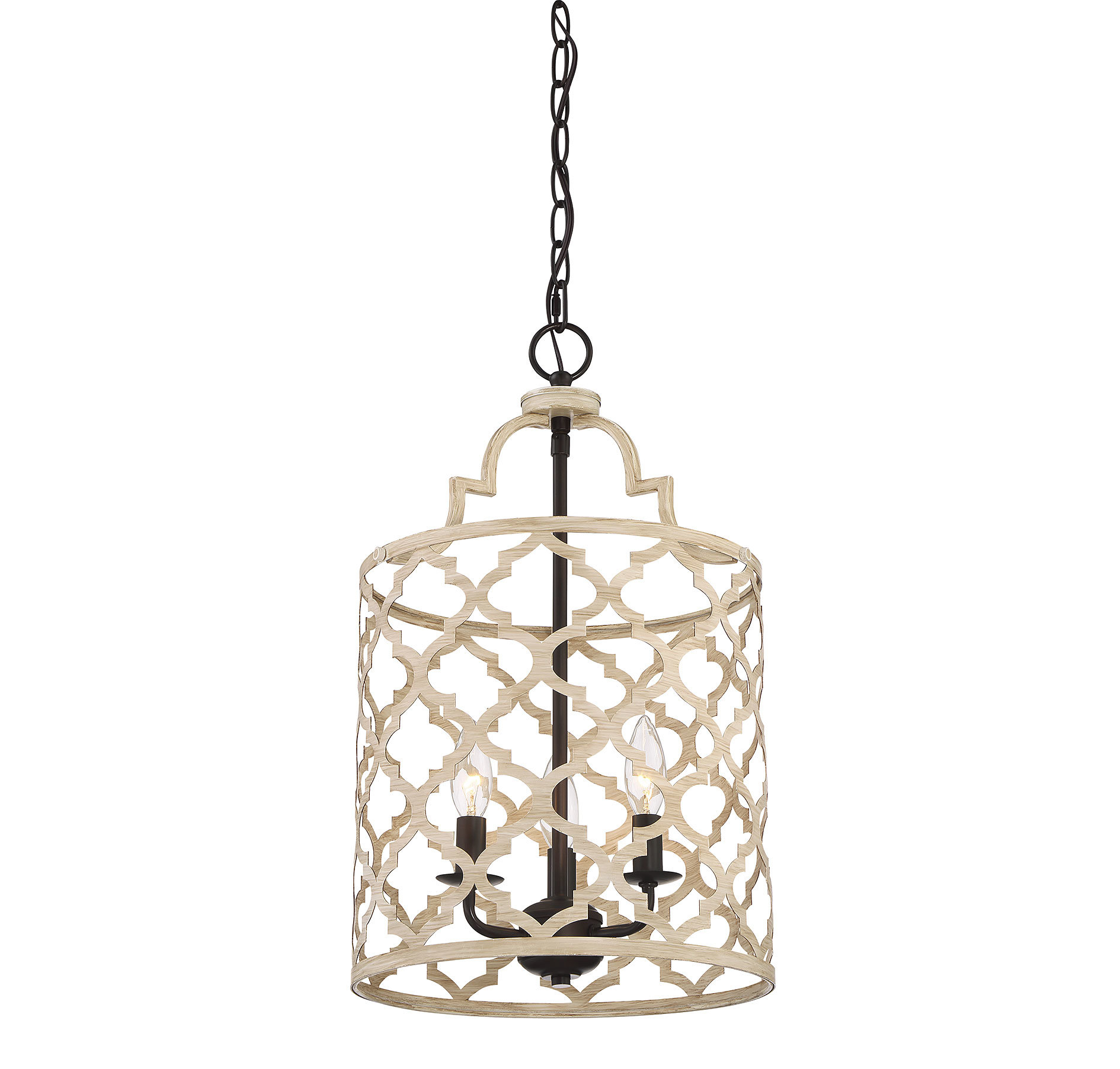 Agueda 3 Light Foyer Pendant With Dirksen 3 Light Single Cylinder Chandeliers (View 13 of 30)