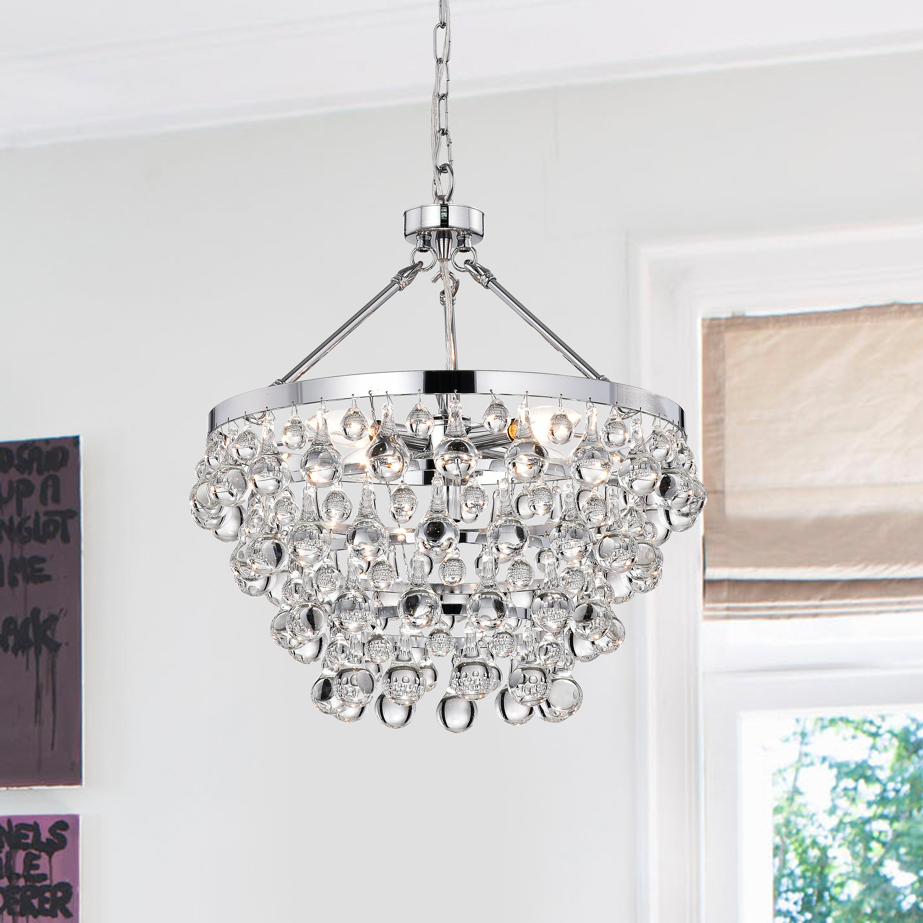 Ahern 5 Light Crystal Chandelier Pertaining To Clea 3 Light Crystal Chandeliers (View 20 of 30)