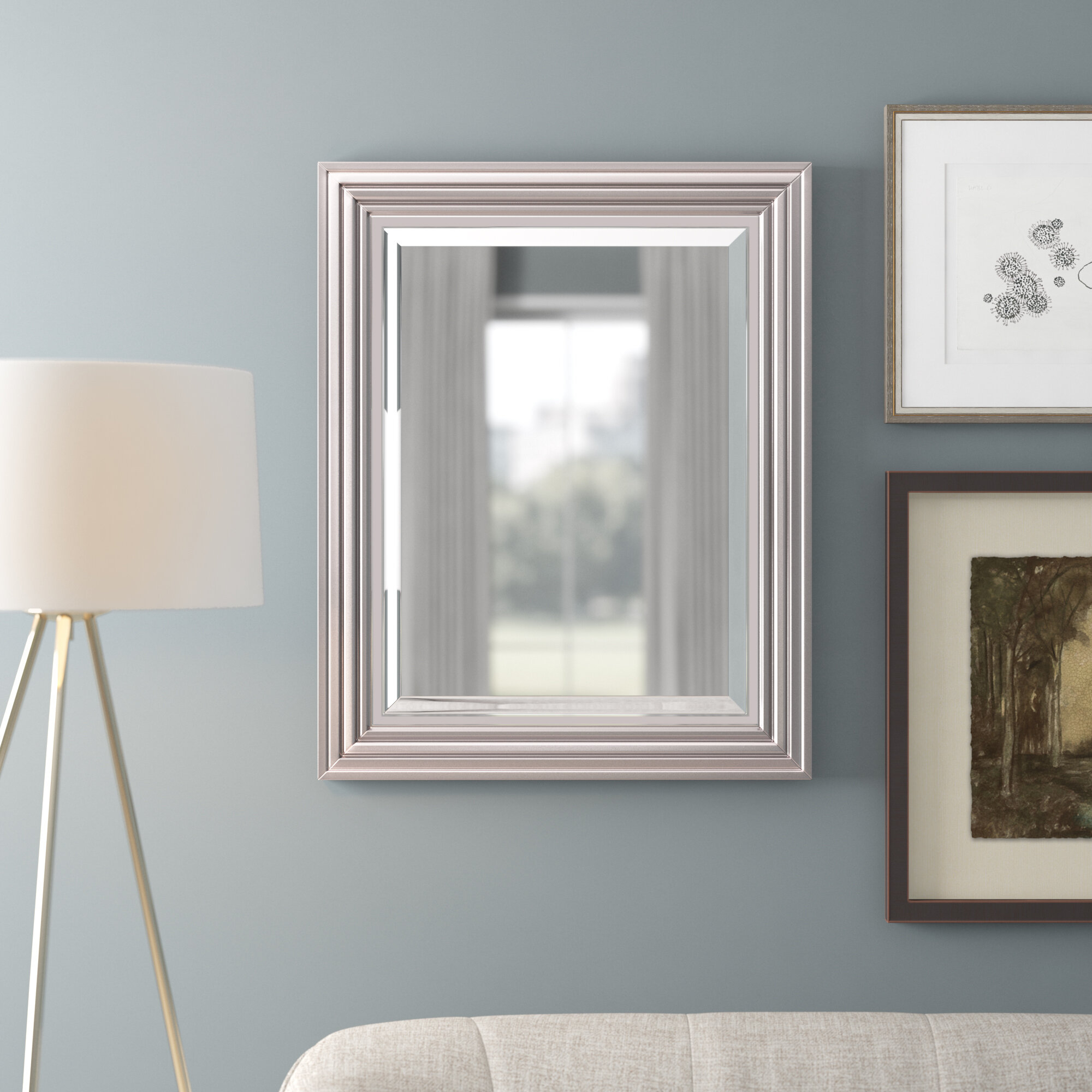 Ahner Modern & Contemporary Beveled Accent Mirror Pertaining To Modern & Contemporary Beveled Accent Mirrors (View 4 of 30)