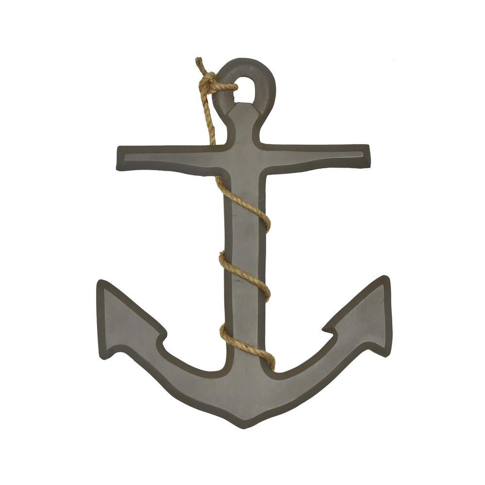 Ahoy Anchor Grey Wood Wall Decor Regarding Metal Rope Wall Sign Wall Decor (View 8 of 30)