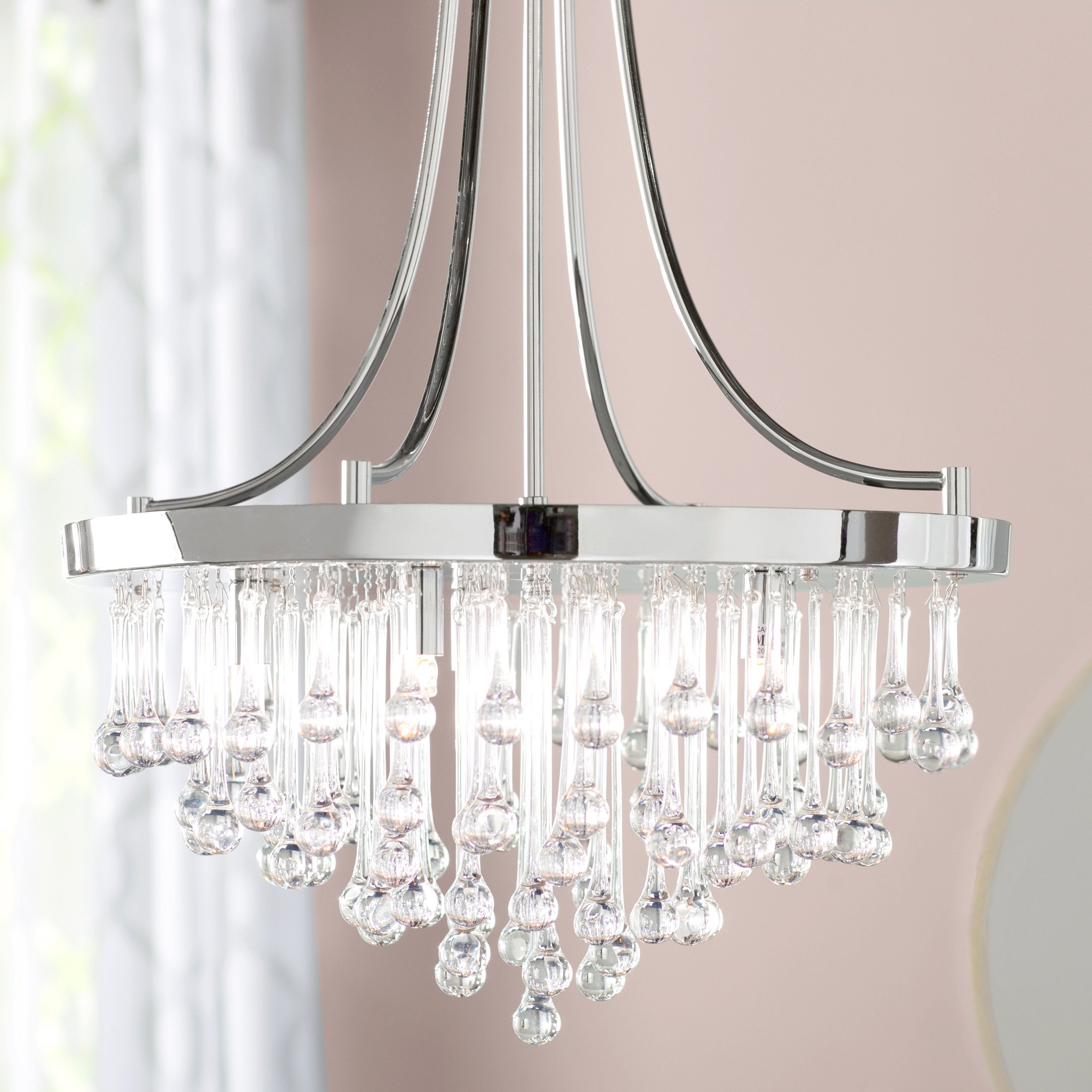 Aidan 5 Light Crystal Chandelier Within Abel 5 Light Drum Chandeliers (Image 4 of 30)