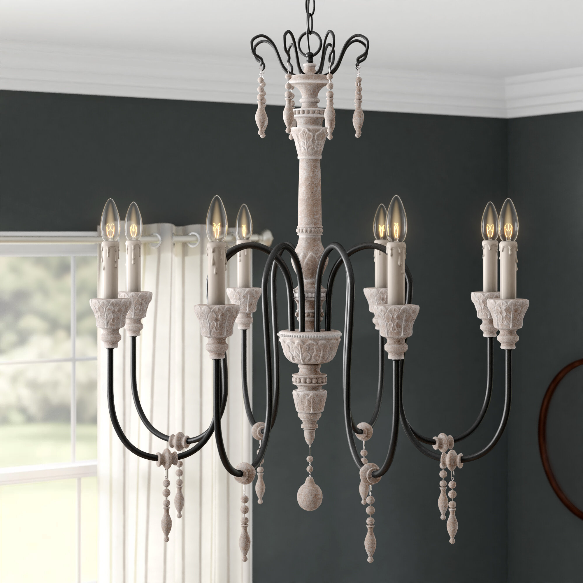 Ailsa 8-Light Candle Style Chandelier in Corneau 5-Light Chandeliers (Image 3 of 30)