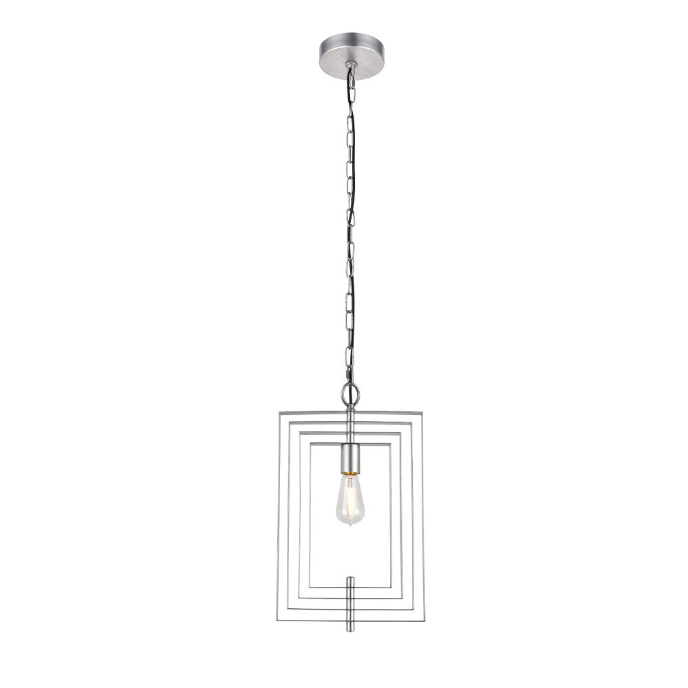 Akash Industrial Vintage 1 Light Geometric Pendant Pertaining To Rockland 4 Light Geometric Pendants (View 2 of 30)