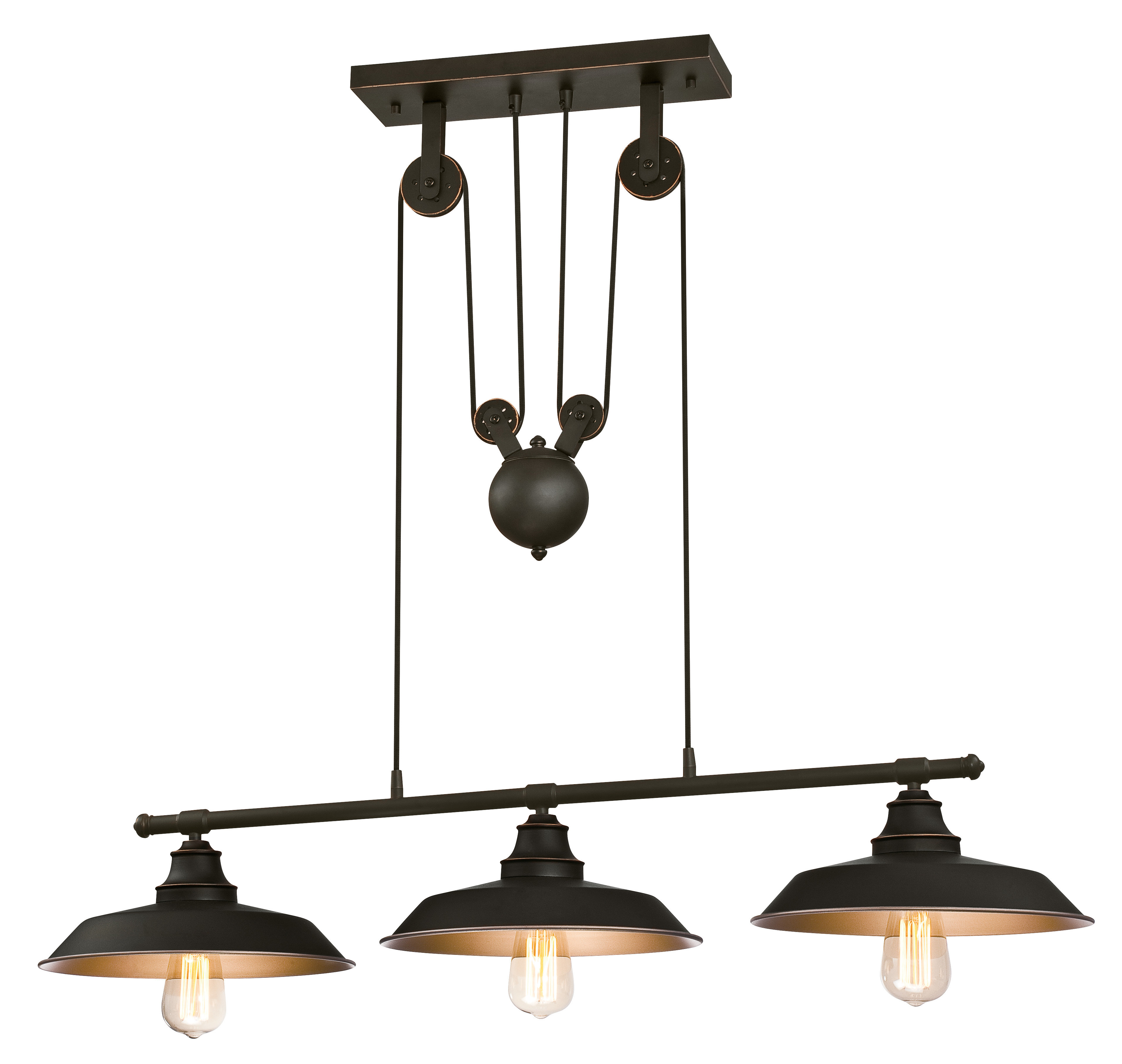 Alayna 3-Light Kitchen Island Dome Pendant regarding Cinchring 4-Light Kitchen Island Linear Pendants (Image 2 of 30)