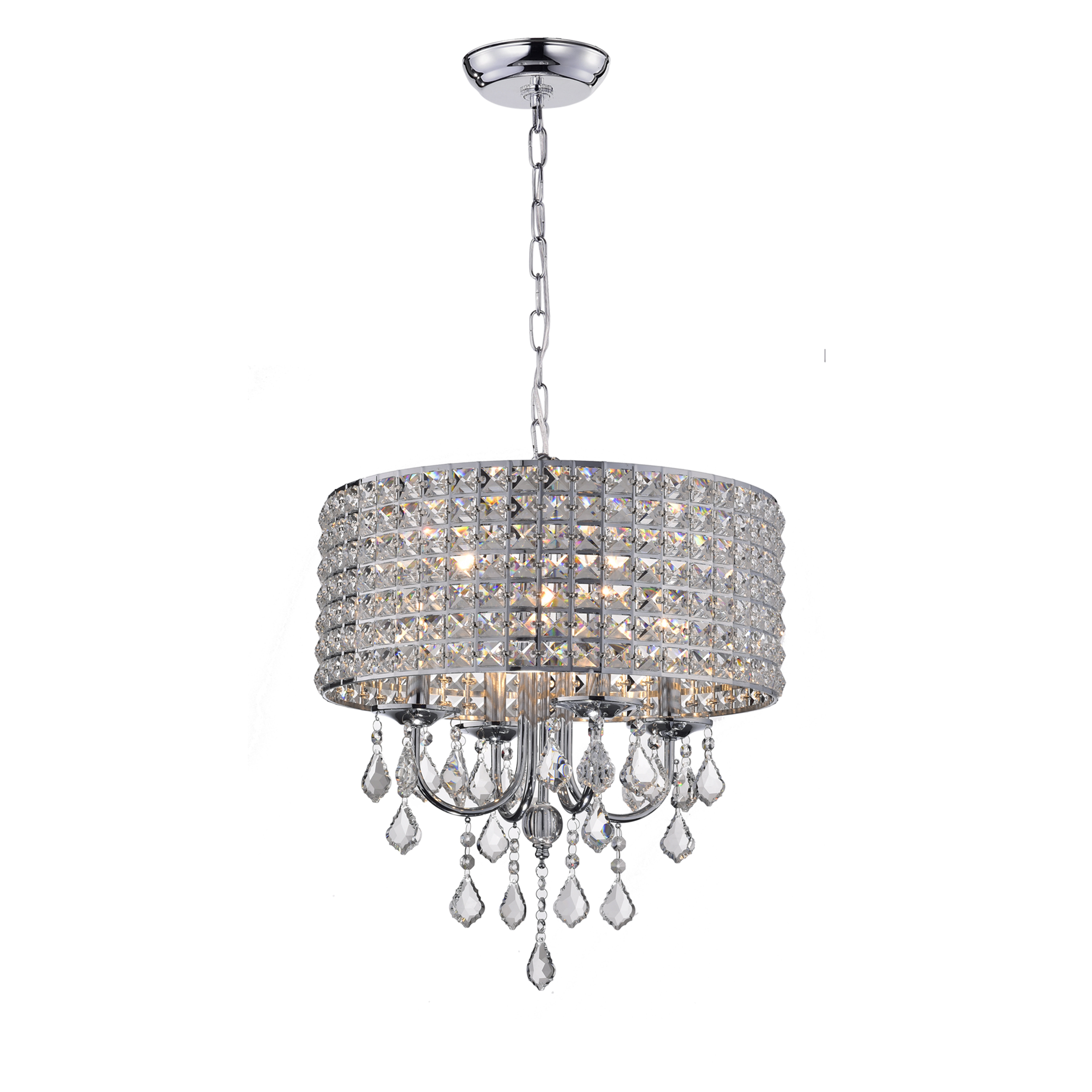 Albano 4 Light Crystal Chandelier With Regard To Gisselle 4 Light Drum Chandeliers (View 18 of 30)