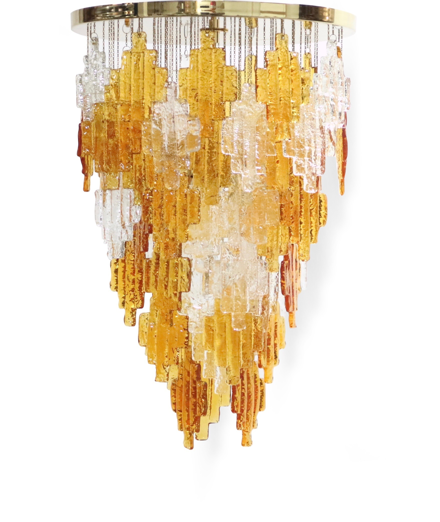 Albano Poli For Poliarte Italian Midcentury Murano Glass Pertaining To Albano 4 Light Crystal Chandeliers (Image 9 of 30)
