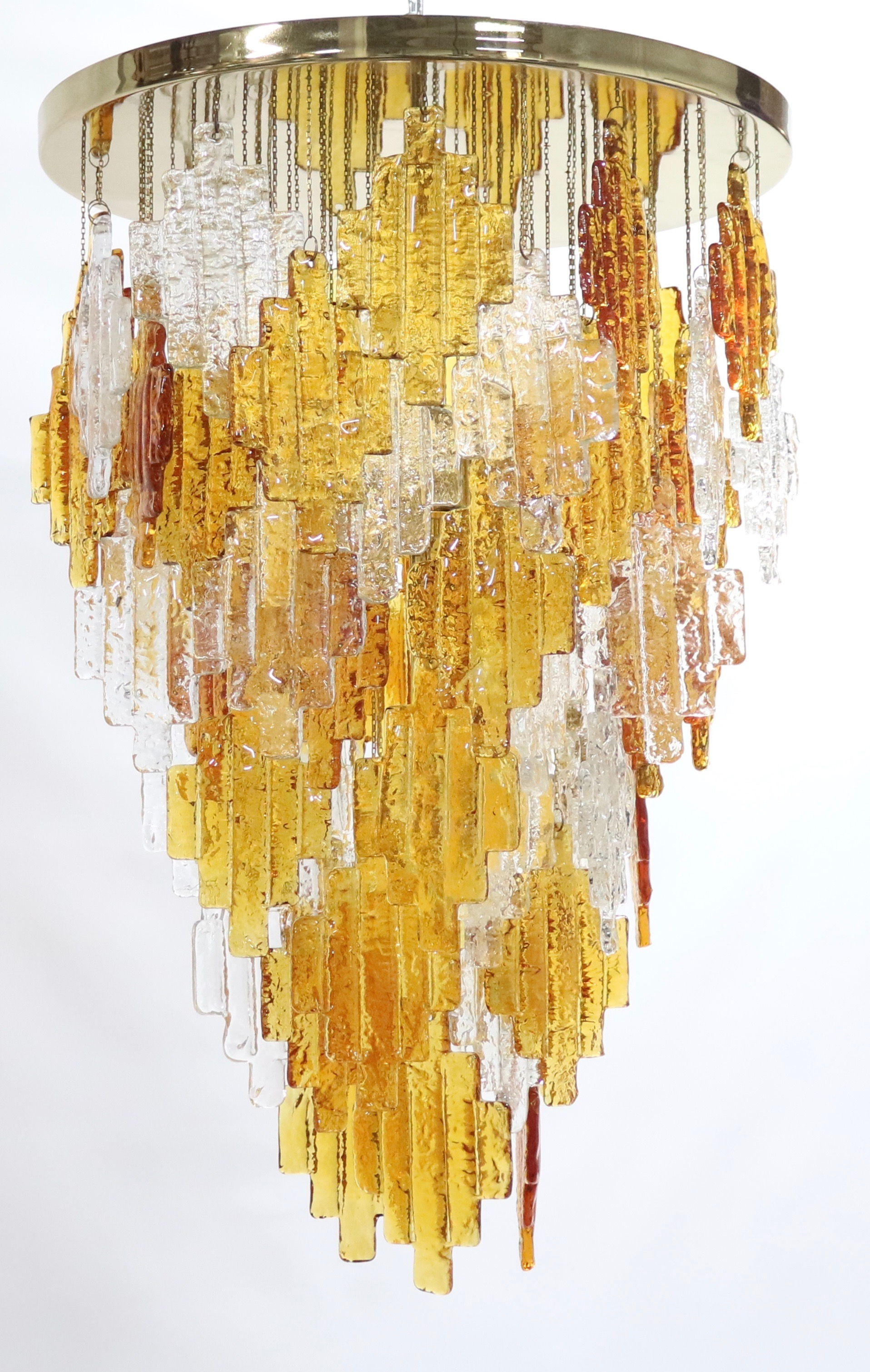 Albano Poli For Poliarte Italian Midcentury Murano Glass Regarding Albano 4 Light Crystal Chandeliers (Image 10 of 30)