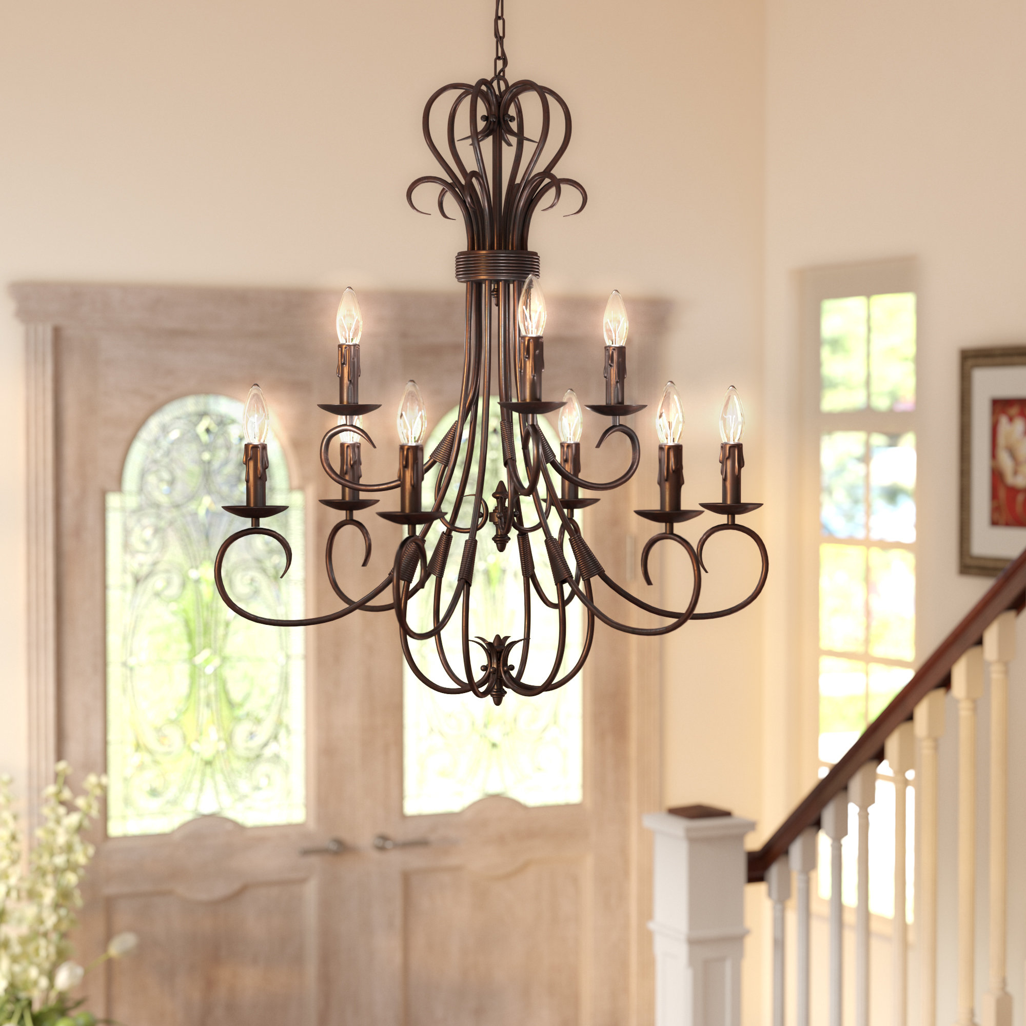 Alcott Hill Gaines 9 Light Candle Style Chandelier With Regard To Gaines 9 Light Candle Style Chandeliers (View 3 of 30)