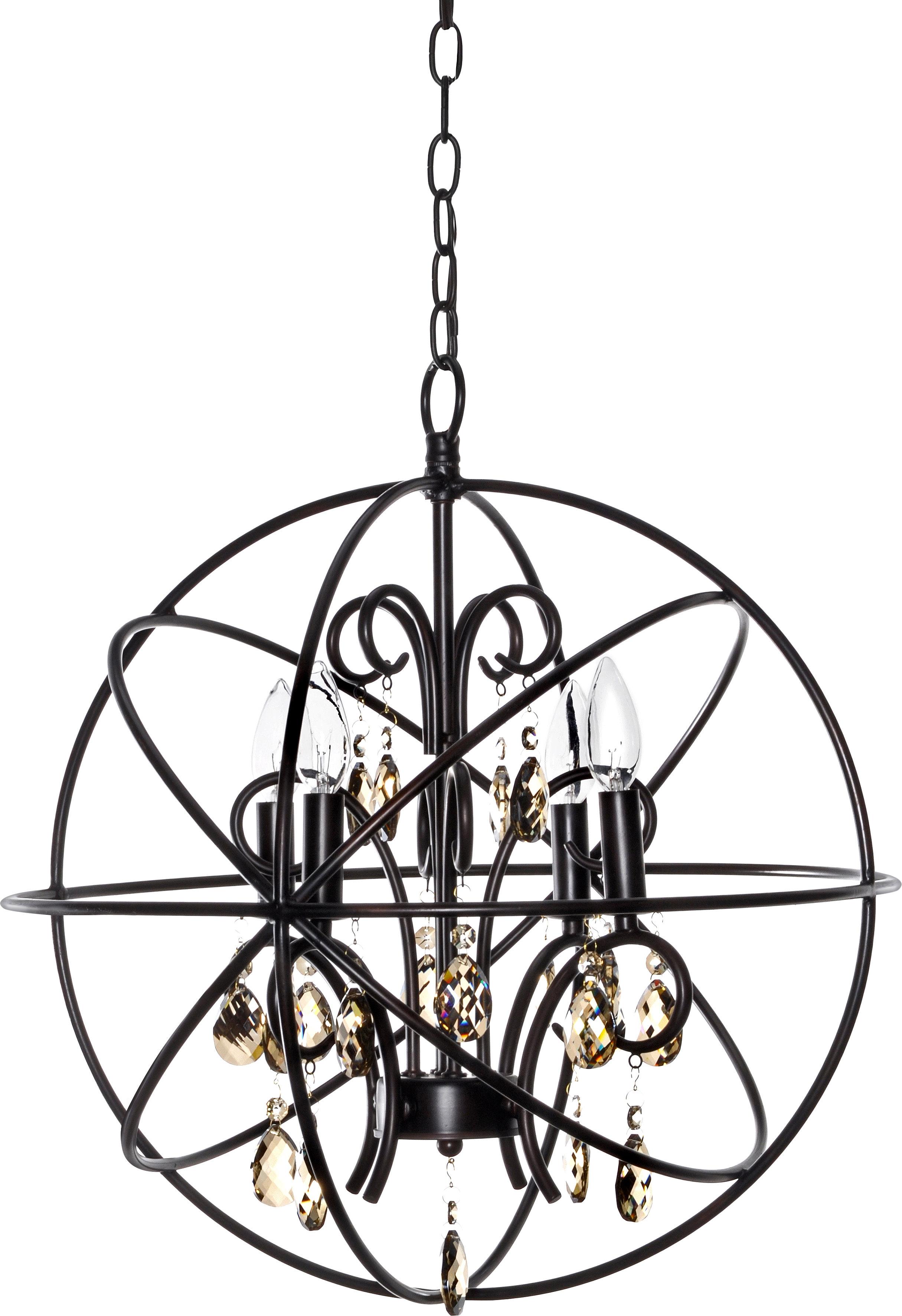 Alden 4 Light Globe Chandelier For Alden 3 Light Single Globe Pendants (View 9 of 30)