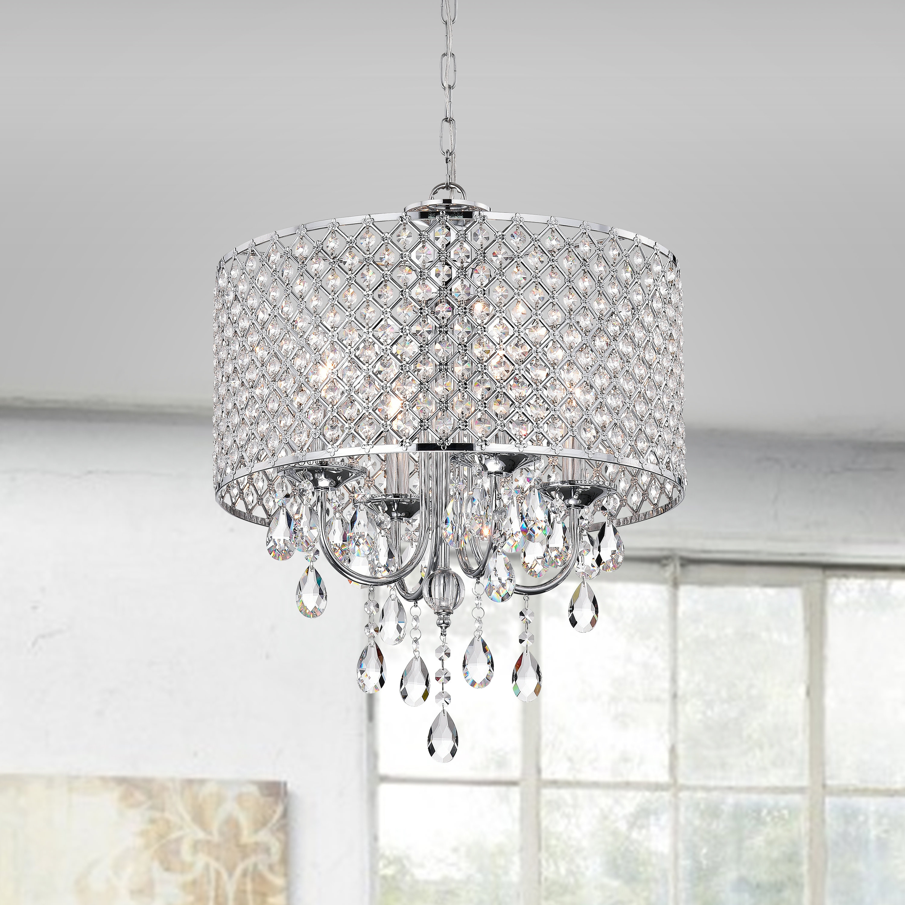 Aldgate 4 Light Crystal Chandelier Intended For Sinead 4 Light Chandeliers (View 8 of 30)