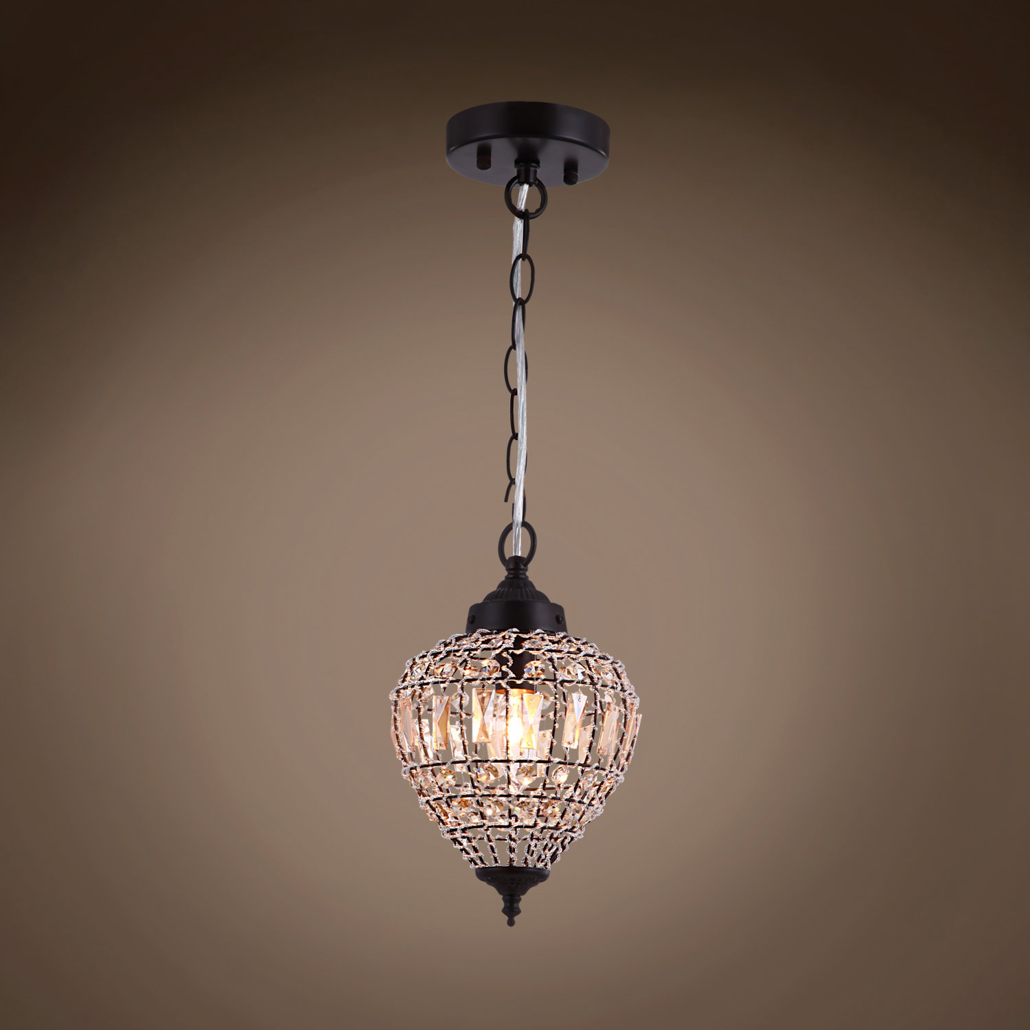 Alexa 1-Light Unique / Statement Teardrop Pendant with Spokane 1-Light Single Urn Pendants (Image 1 of 30)