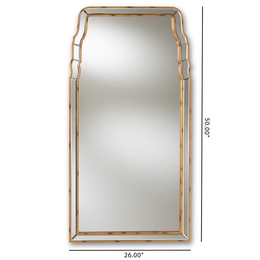 Alice Antique Gold Wall Mirror for Rectangle Ornate Geometric Wall Mirrors (Image 2 of 30)