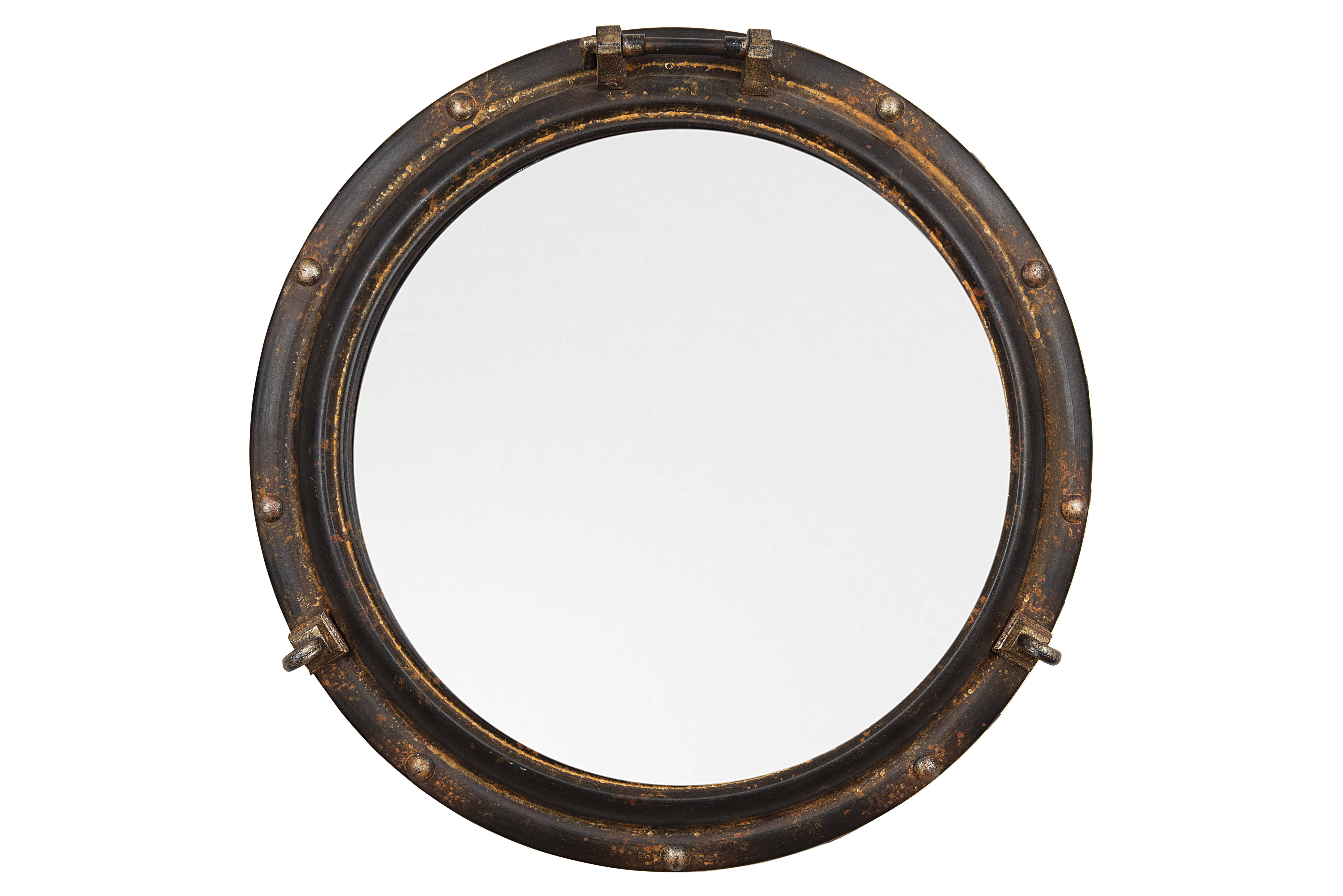 Alie Traditional Beveled Distressed Accent Mirror In Alie Traditional Beveled Distressed Accent Mirrors (Image 3 of 30)