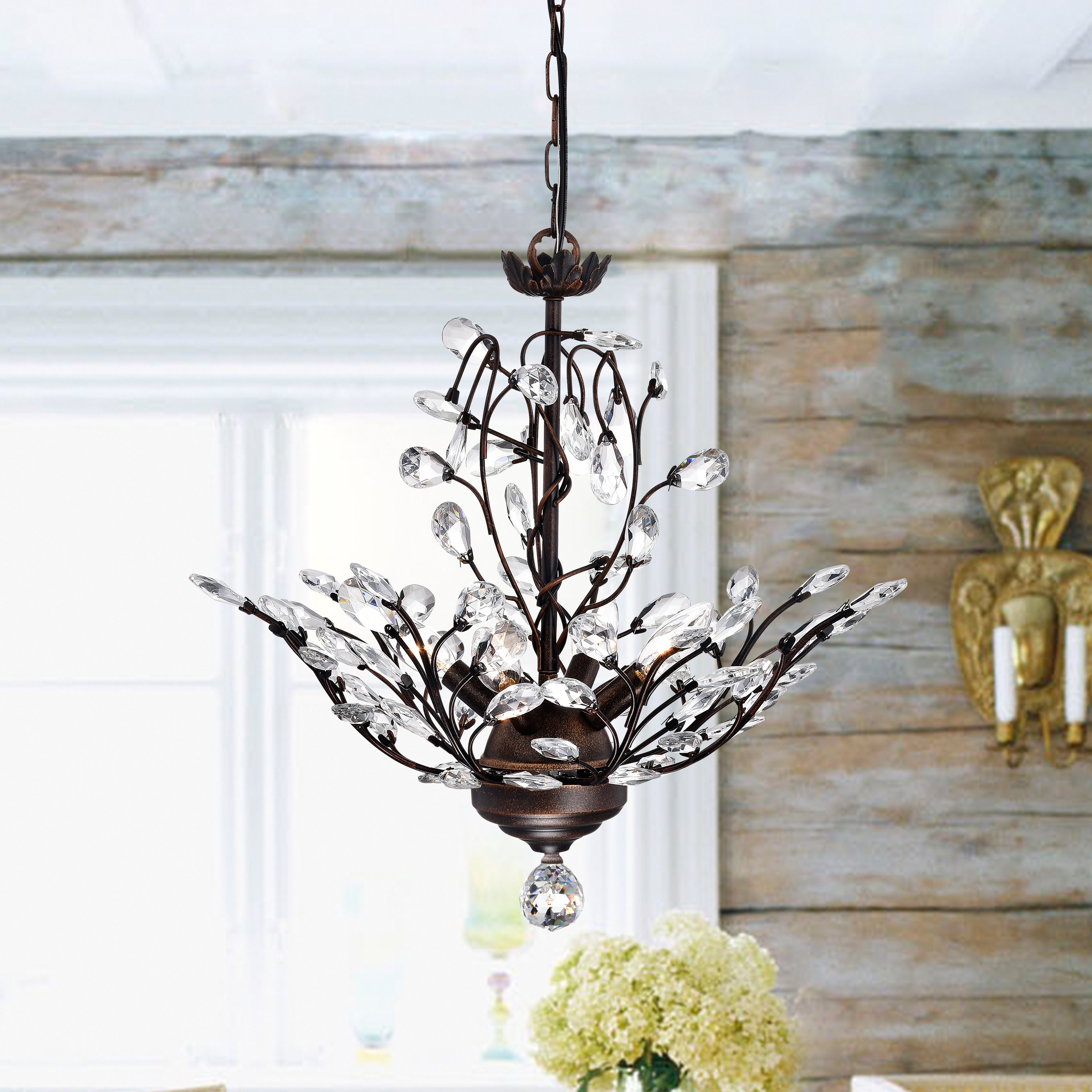 Alijah 4 Light Led Candle Style Chandelier With Hesse 5 Light Candle Style Chandeliers (View 14 of 30)
