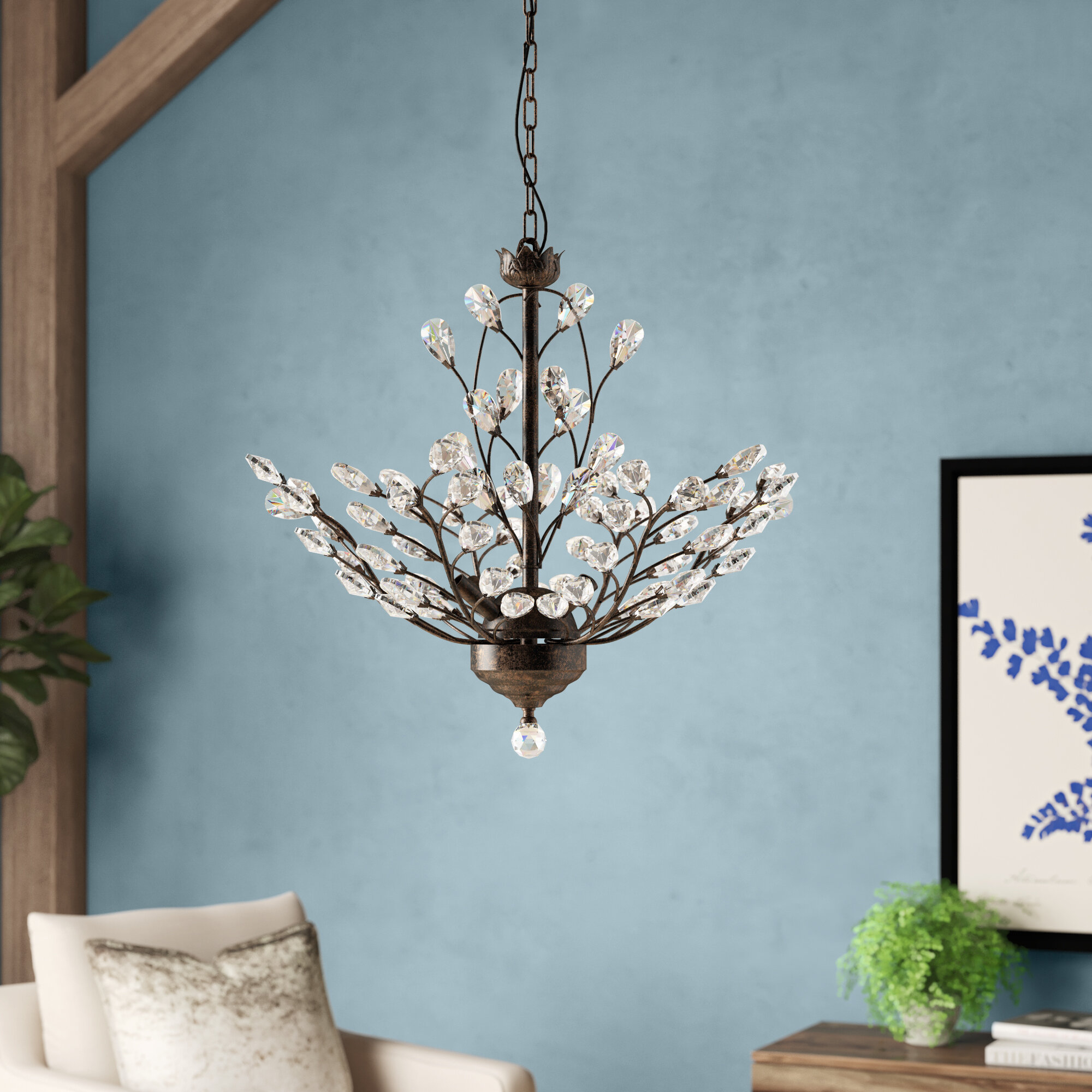 Alijah 4 Light Led Candle Style Chandelier With Regard To Hesse 5 Light Candle Style Chandeliers (View 24 of 30)