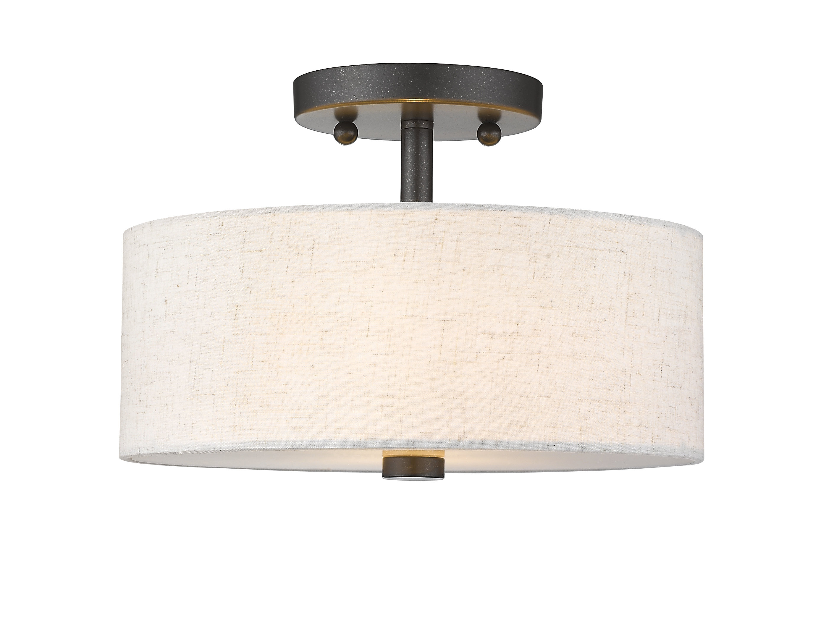 Alina 2 Light Semi Flush Mount With Regard To Alina 5 Light Drum Chandeliers (View 16 of 30)