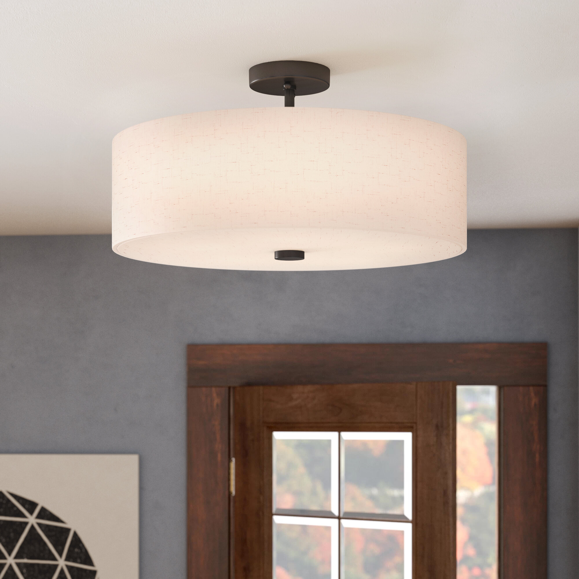 Alina 5 Light Semi Flush Mount Pertaining To Alina 5 Light Drum Chandeliers (View 7 of 30)