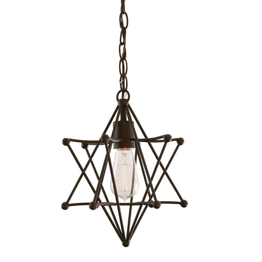 Allen + Roth Aged Bronze Single French Country/cottage Star Pendant Light in 3-Light Single Urn Pendants (Image 4 of 30)