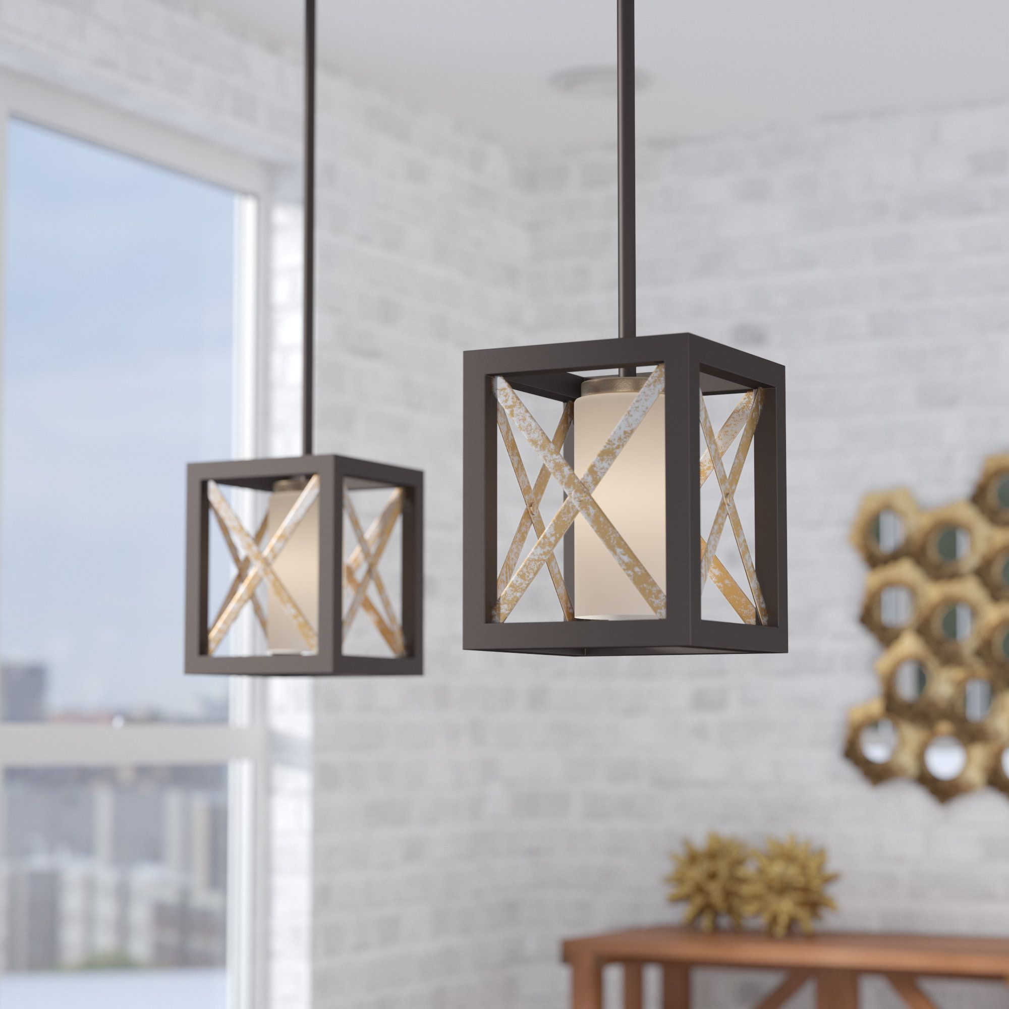 Alline 1 Light Mini Pendant | Products Throughout William 4 Light Lantern Square / Rectangle Pendants (View 9 of 30)