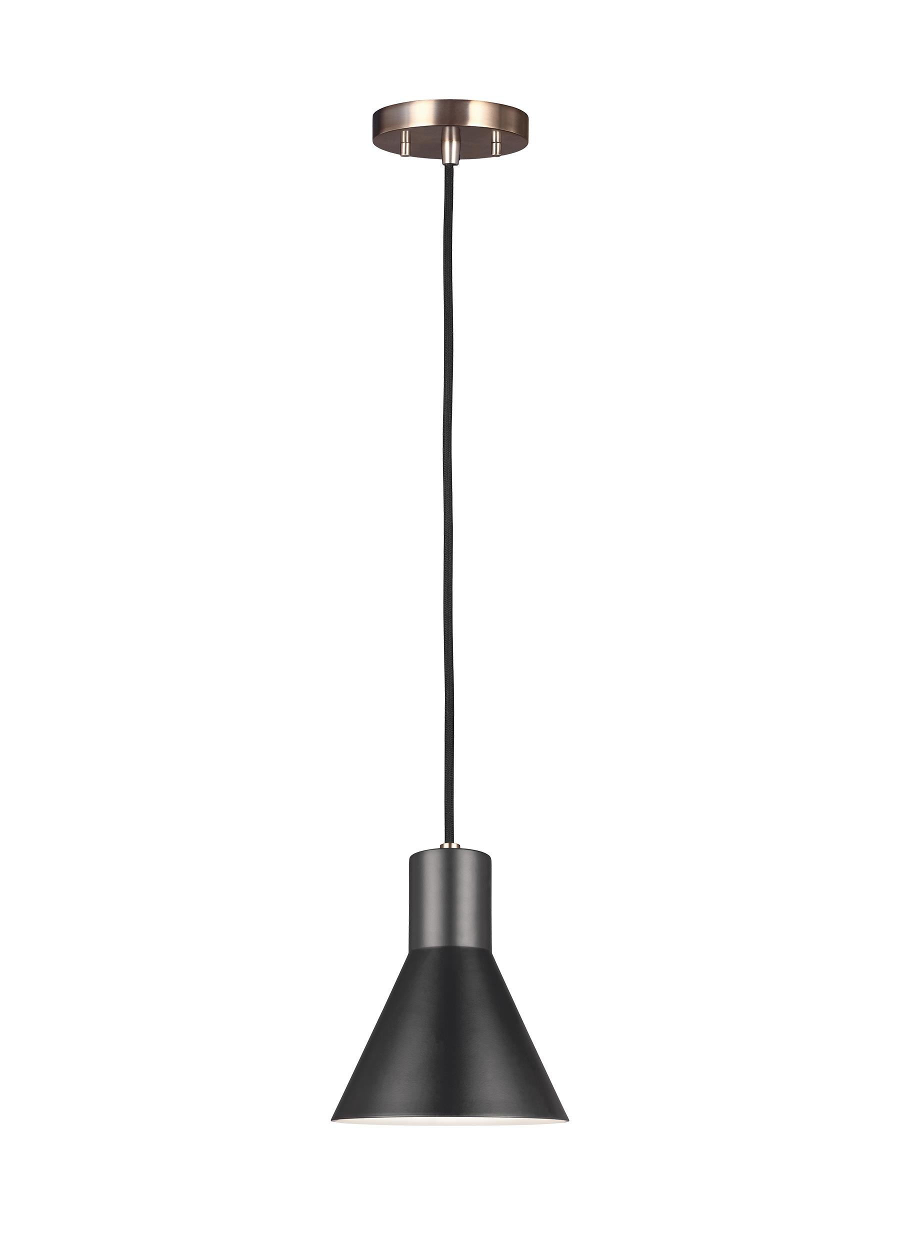 Alton 1-Light Single Cone Pendant in Conover 1-Light Dome Pendants (Image 2 of 30)