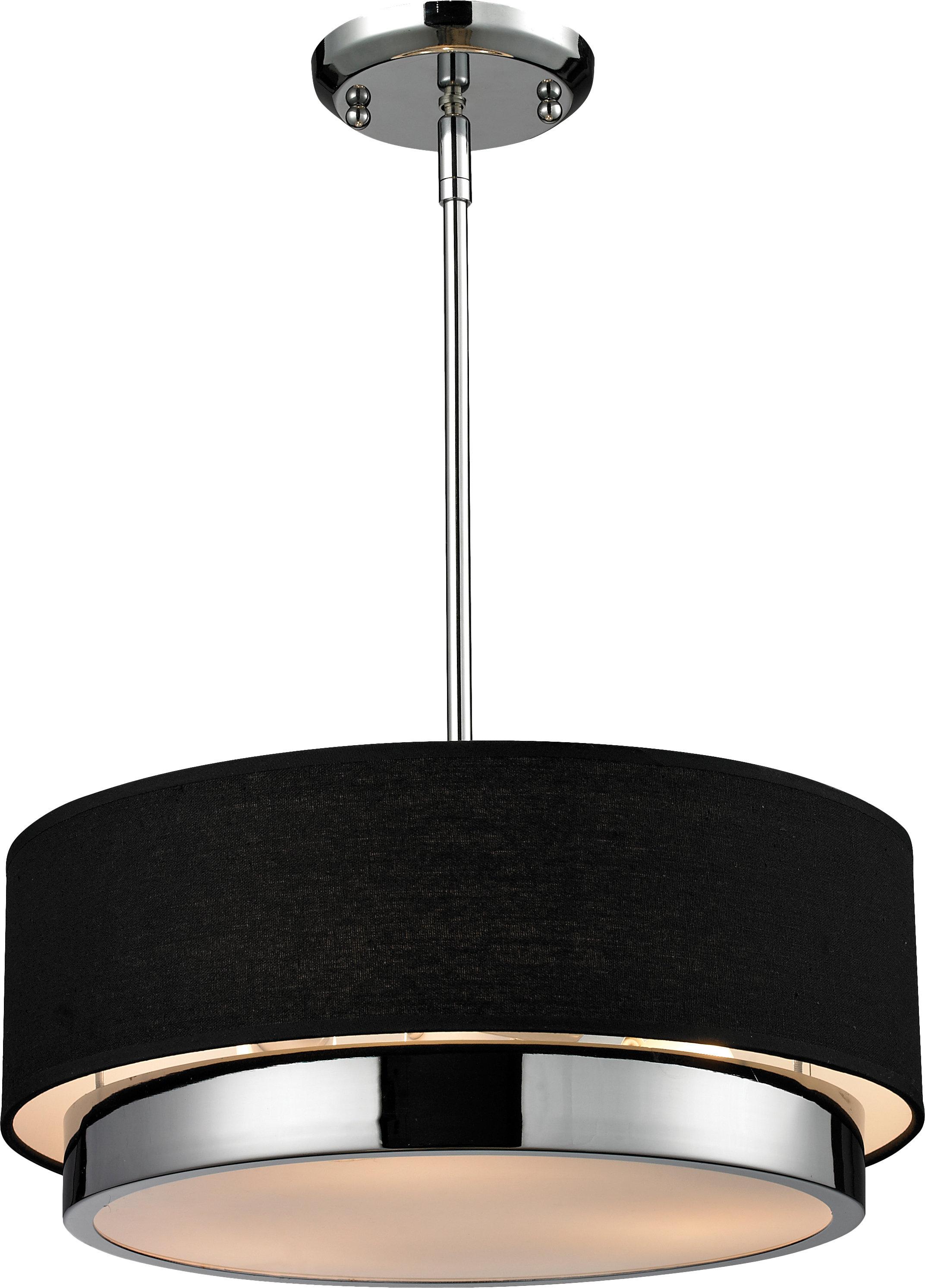 Alvarez 3-Light Drum Chandelier with Alverez 4-Light Drum Chandeliers (Image 2 of 30)