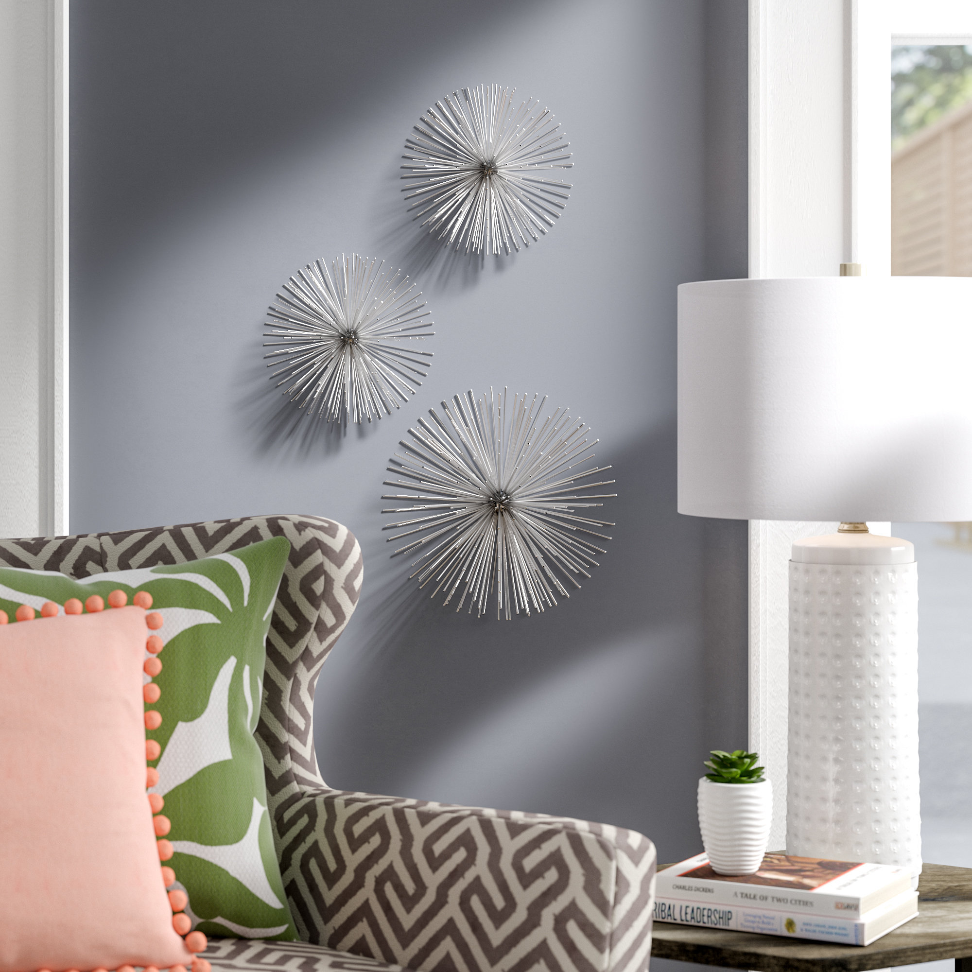 Alvarez Starburst Wall Décor throughout 3 Piece Wall Decor Sets by Wrought Studio (Image 21 of 30)