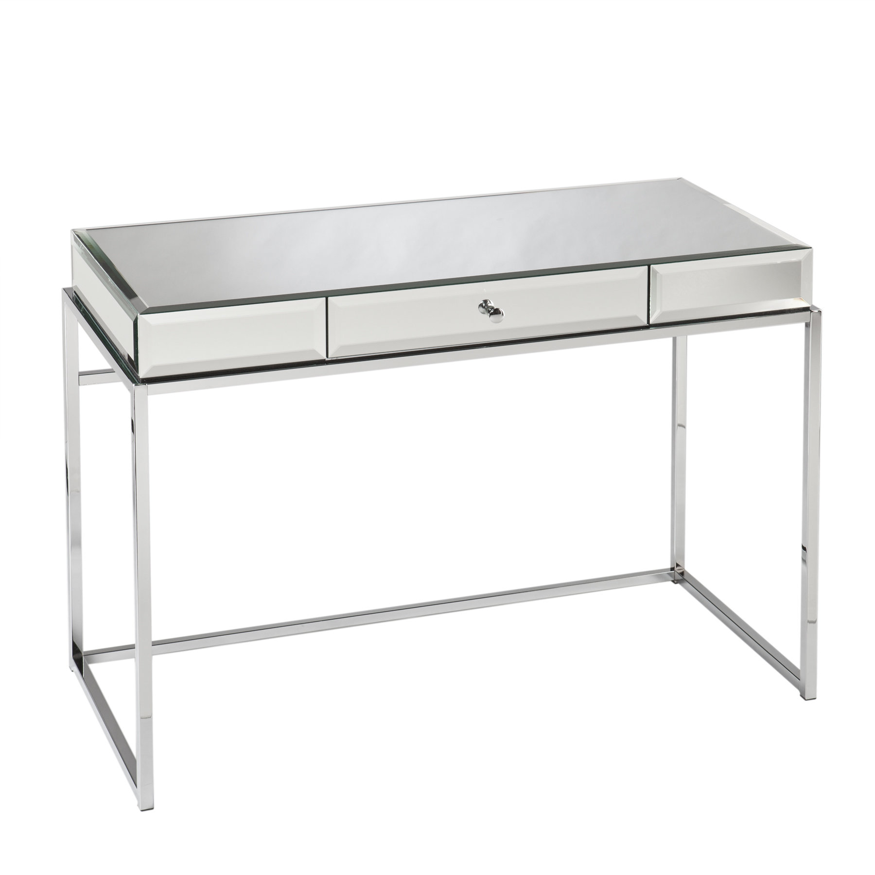 Alvis 1 Drawer Writing Desk for Alvis Traditional Metal Wall Decor (Image 3 of 30)