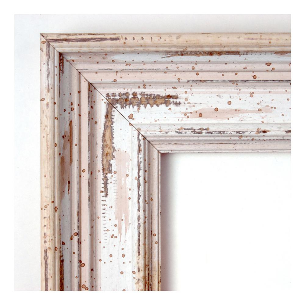 Amanti Art Alexandria White Wash Wood 41 In. W X 29 In. H for Marion Wall Mirrors (Image 2 of 30)