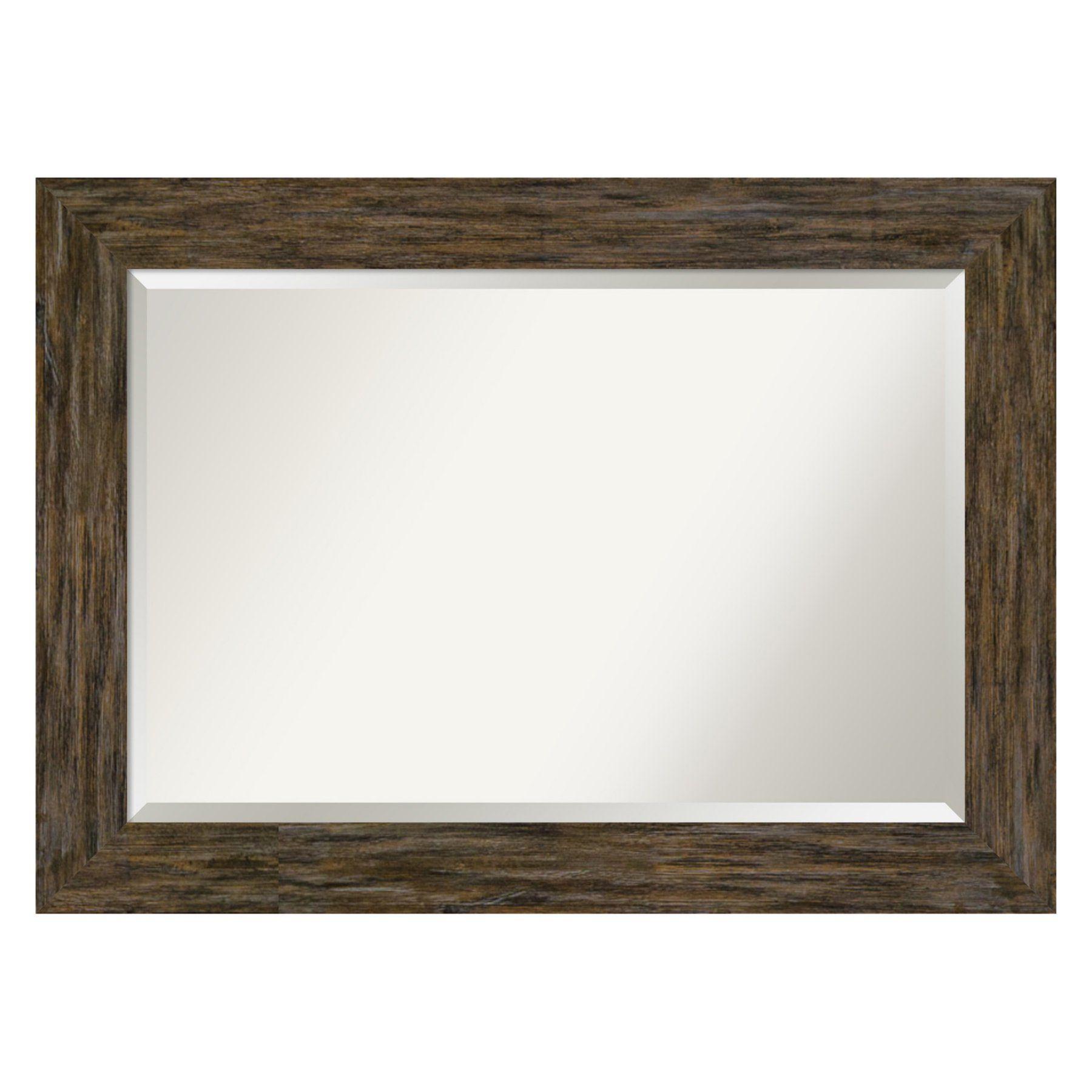 Amanti Art Fencepost Rectangular Beveled Bathroom Vanity Inside Northcutt Accent Mirrors (View 22 of 30)