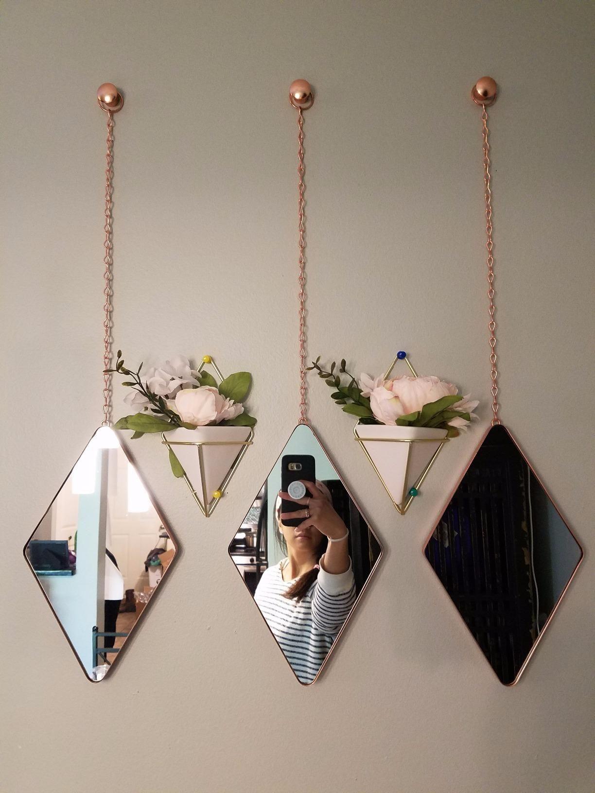 Amazon: Umbra Trigg Hanging Planter Vase Geometric Wall Inside Trigg Ceramic Planter Wall Decor (View 2 of 30)