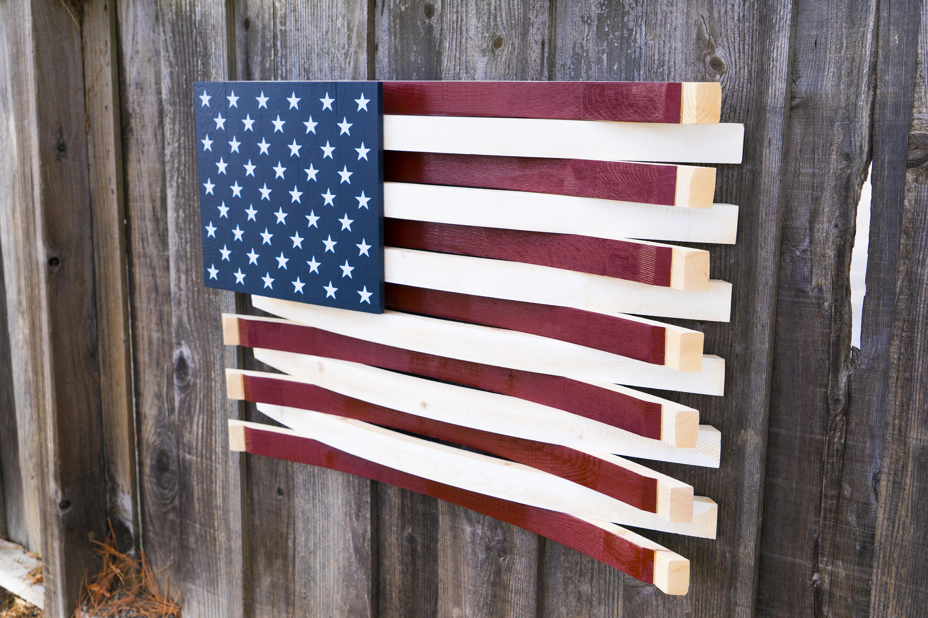 American Barrel Flag – Wooden American Flag – Wine Lovers Gift – Usa Flag –  Veteran Gift – 3D Wall Art  Patriotic Decor Intended For American Flag 3D Wall Decor (Image 8 of 30)