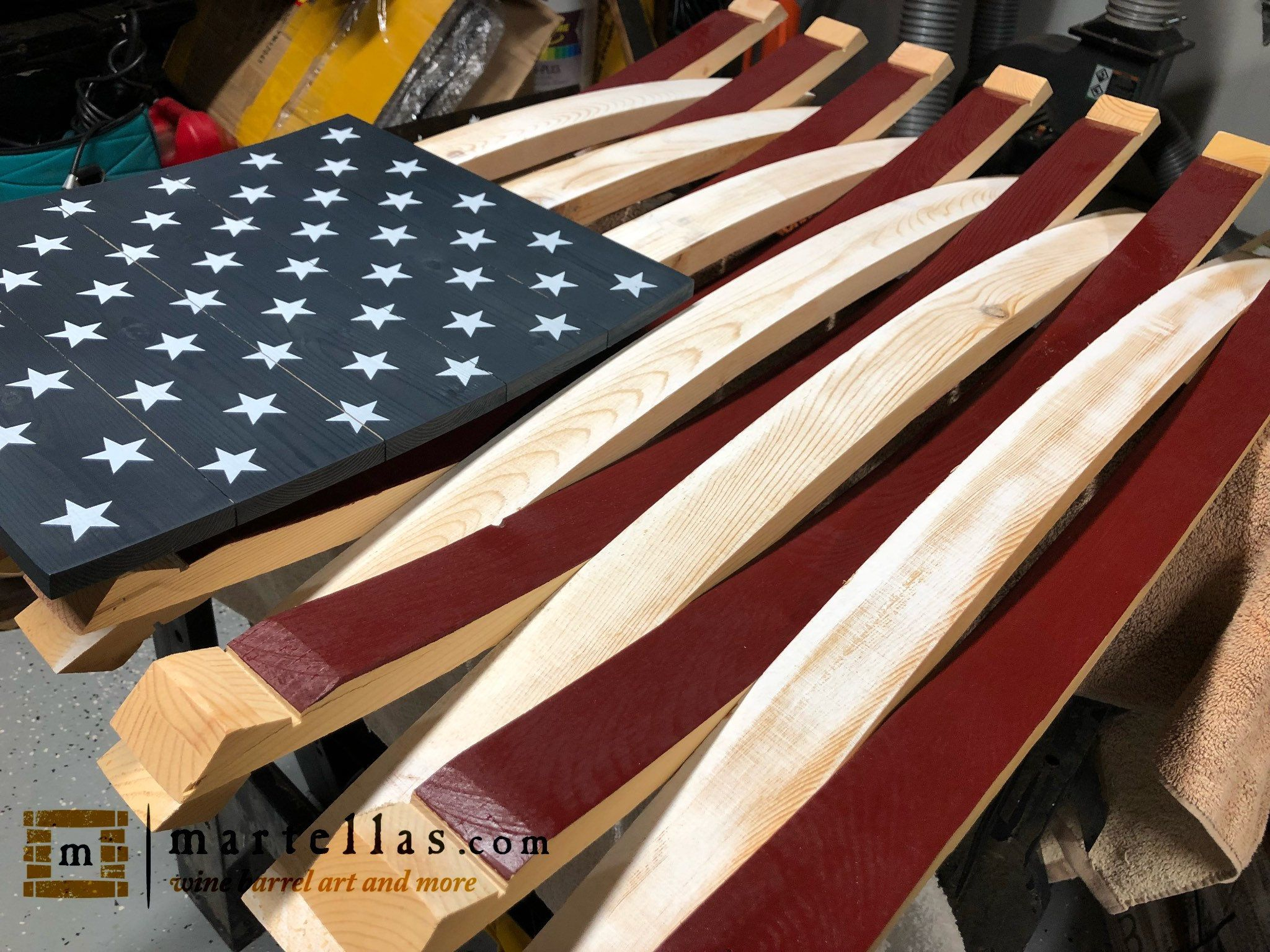 American Barrel Flag – Wooden American Flag – Wine Lovers With American Flag 3D Wall Decor (Image 9 of 30)