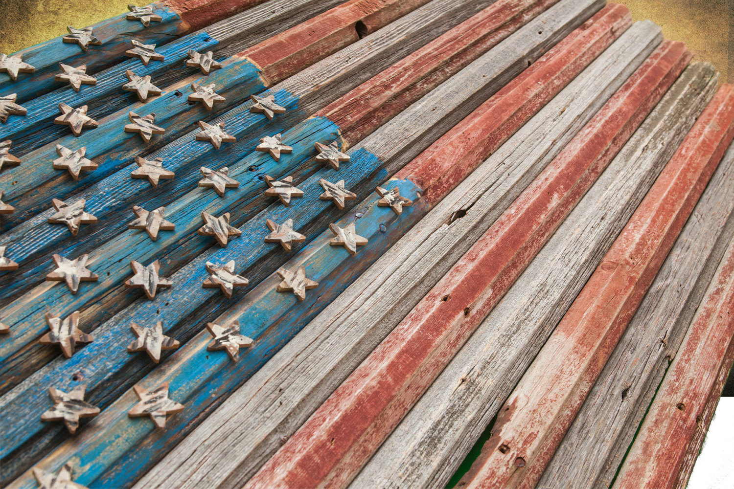 American Flag, Reclaimed Barn Wood, One Of A Kind, 3D, Wooden, Vintage,  Art, Distressed, Red, Blue, Gray Patriotic, Wall Art Usa, Home Decor With American Flag 3D Wall Decor (Image 12 of 30)