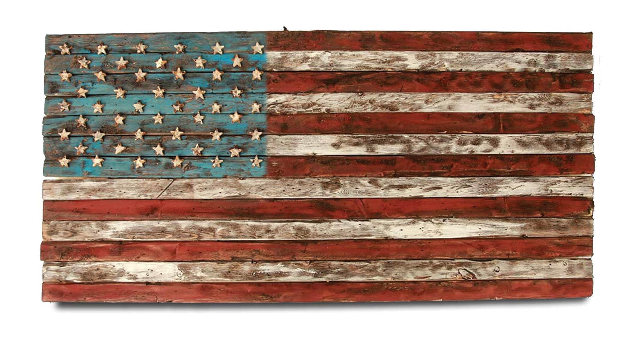 American Flag, Weathered Wood, One Of A Kind, 3D, Wooden, Vintage, Art,  Distressed, Red, Blue, White Patriotic, Wall Art, Usa, Home Decor Pertaining To American Flag 3D Wall Decor (Image 14 of 30)