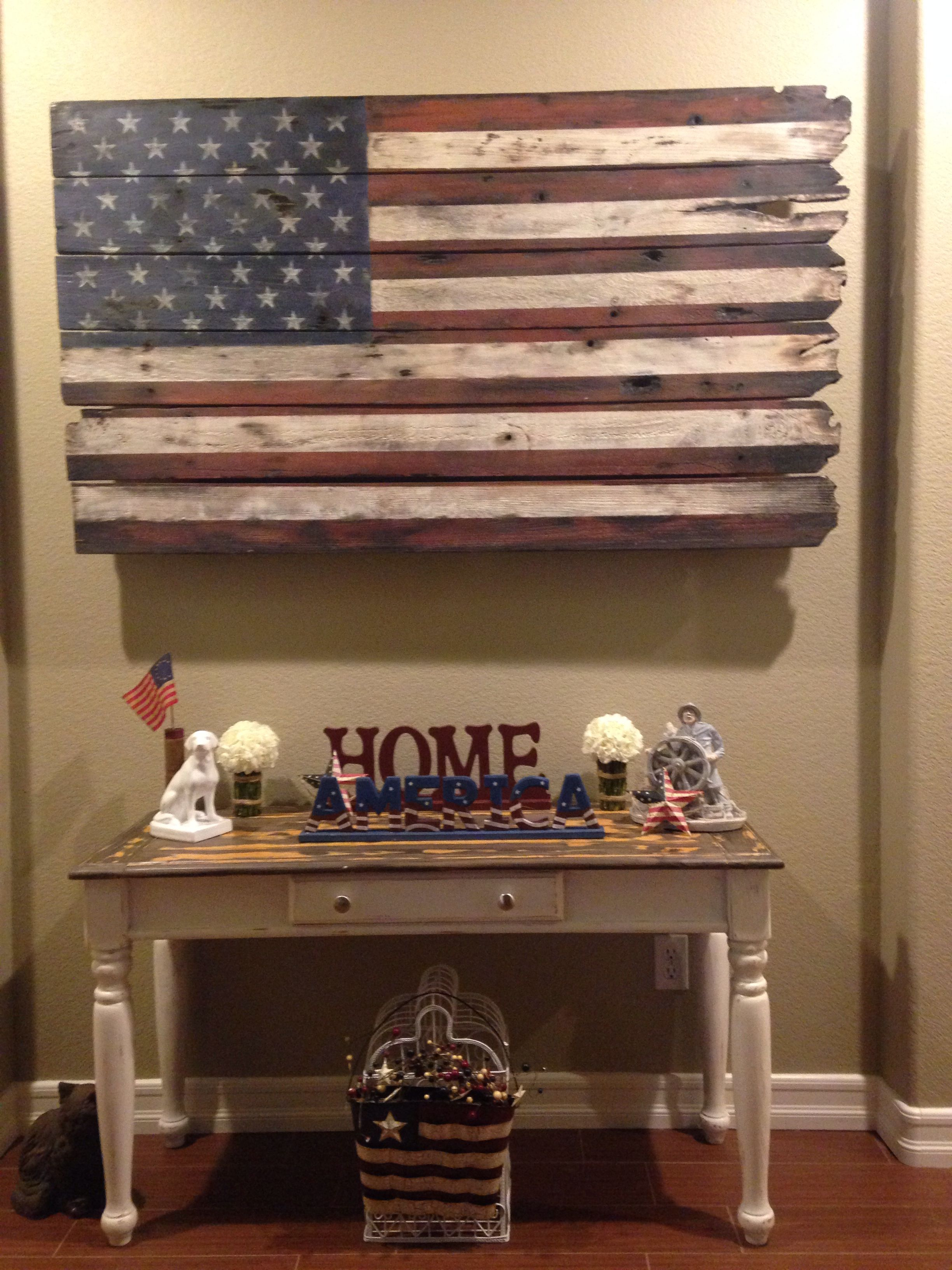American Flag Wood Art, Happy Customer | Stefanie's American regarding American Pride 3D Wall Decor (Image 5 of 30)